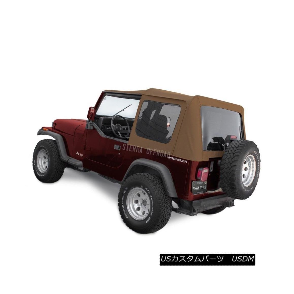 幌・ソフトトップ Jeep Wrangler YJ Soft Top 88-95 in Spice Denim, Tinted Windows ジープラングラーYJソフトトップ88-95スパイスデニム、色づけされたWindows