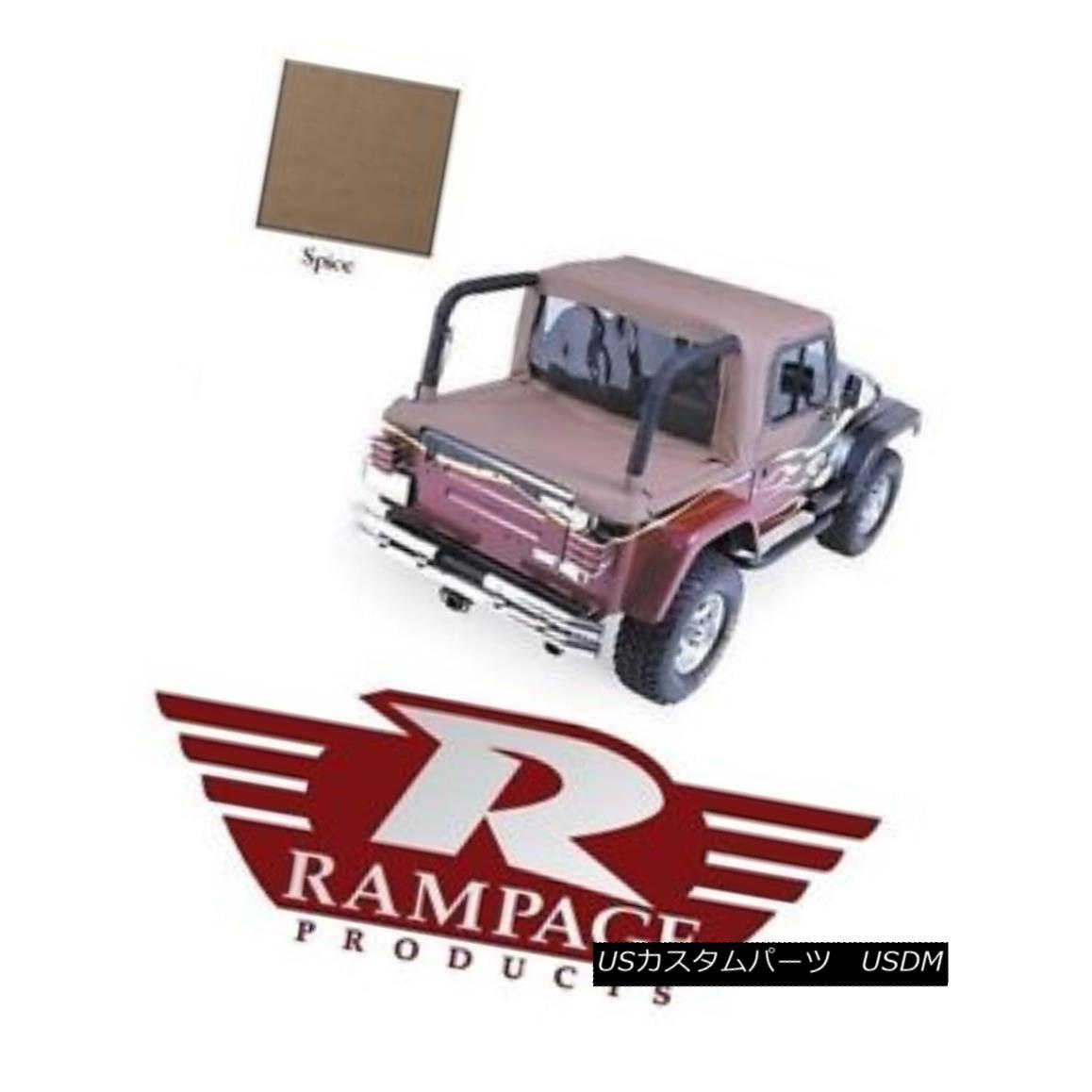 幌・ソフトトップ Rampage Full Cab Enclosure & Tonneau Cover - Spice 92-95 Jeep Wrangler YJ 993017 ランペイジフルキャブエンクロージャー& トノーカバー - スパイス92-95ジープラングラーYJ 993017