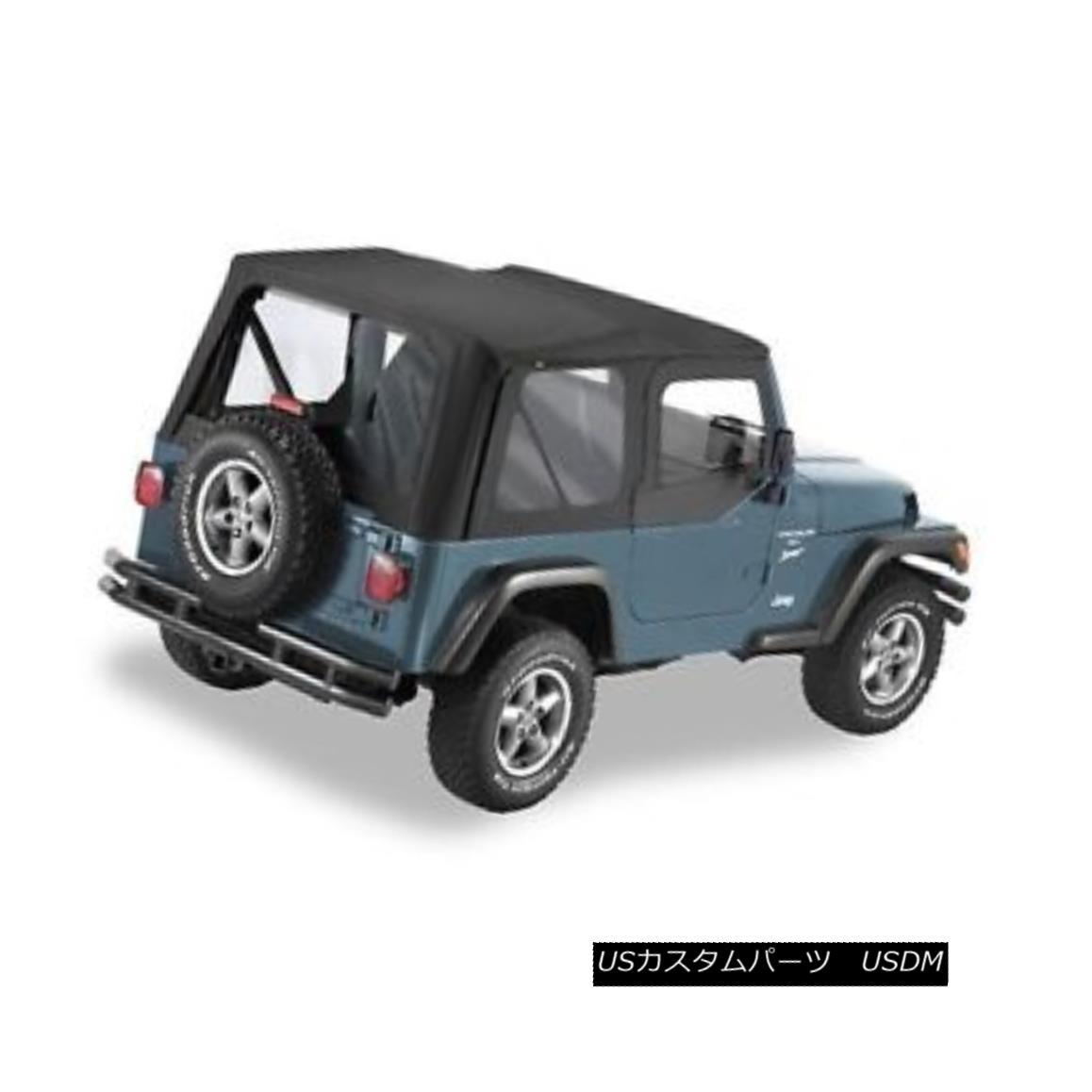 幌・ソフトトップ Pavement Ends Replay Top 97-06 Jeep Wrangler TJ Clear w/ Skins Black Diamond 舗装終了リプレイTop 97-06ジープ・ラングラーTJクリア・スキン・ブラック・ダイヤモンド