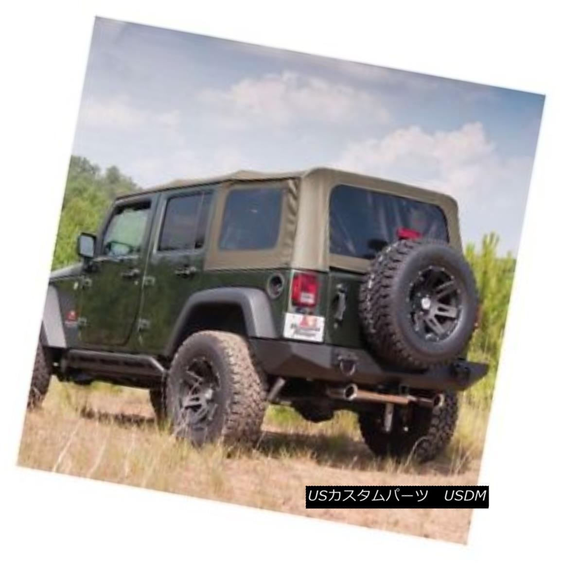 幌・ソフトトップ Rugged Ridge XHD Spring Assist Soft Top-Khaki, 07-09 Wrangler JK 4dr.; 13741.46 Rugged Ridge XHDスプリングアシストソフトトップカーキ、07-09 Wrangler JK 4dr .; 13741.46