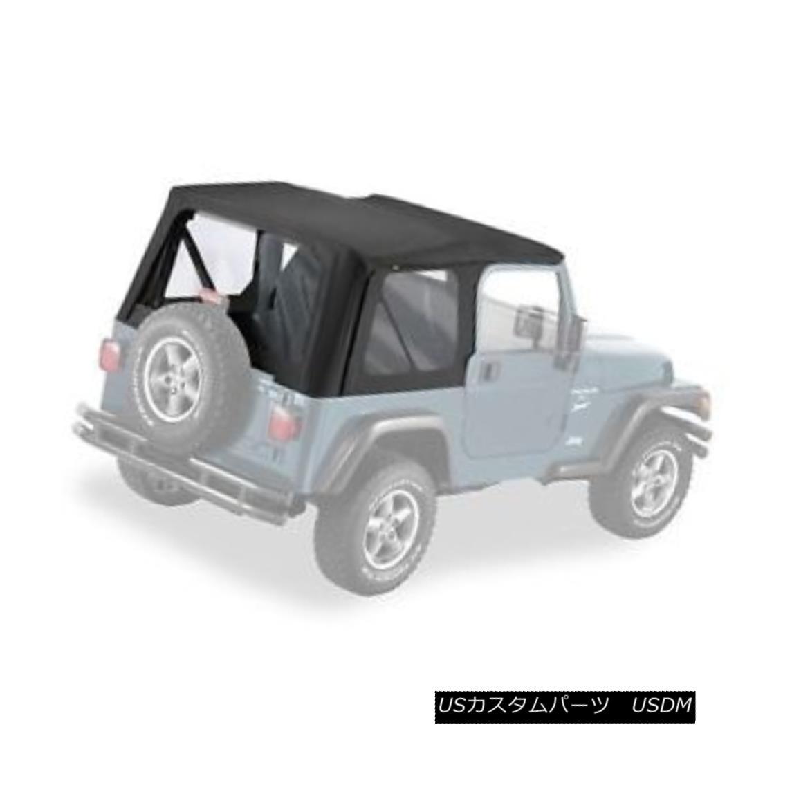 幌・ソフトトップ Pavement Ends Replay Top 97-06 Jeep Wrangler TJ Clear Windows Black Denim 舗装終了リプレイTop 97-06ジープ・ラングラーTJクリア・ウィンドウ・ブラック・デニム