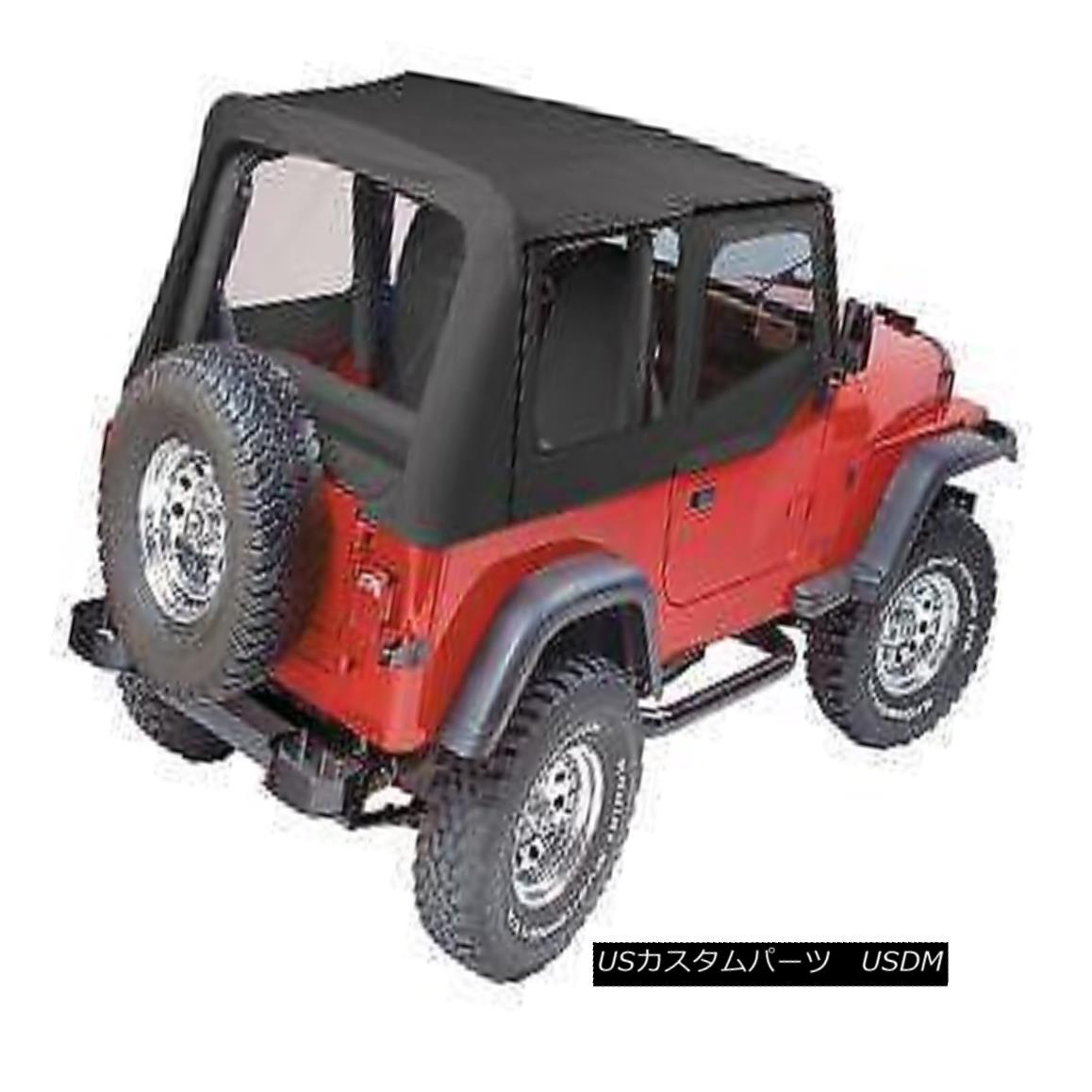 幌・ソフトトップ Pavement Ends Replay Top 88-95 Jeep Wrangler YJ Clear w/ Skins Black Denim 舗装終了リプレイトップ88-95ジープラングラーYJクリアウィズスキンズブラックデニム