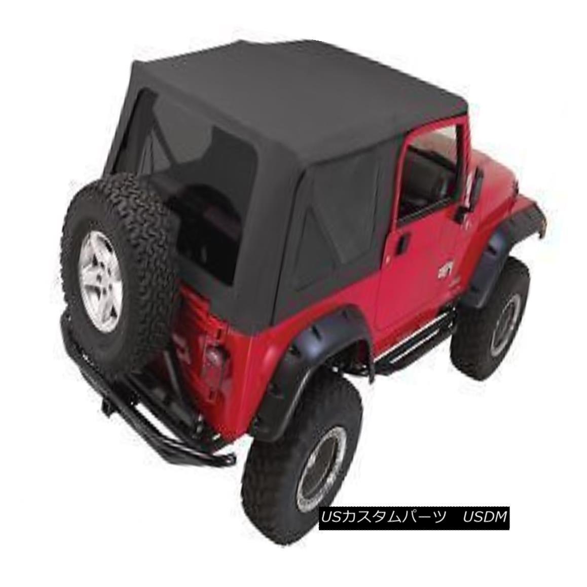 幌・ソフトトップ Rampage Complete Soft Top w/ Frame & Tint 97-06 Jeep Wrangler TJ 68835 Black ランペイジコンプリートソフトトップ(フレーム& ティント97-06ジープラングラーTJ 68835ブラック