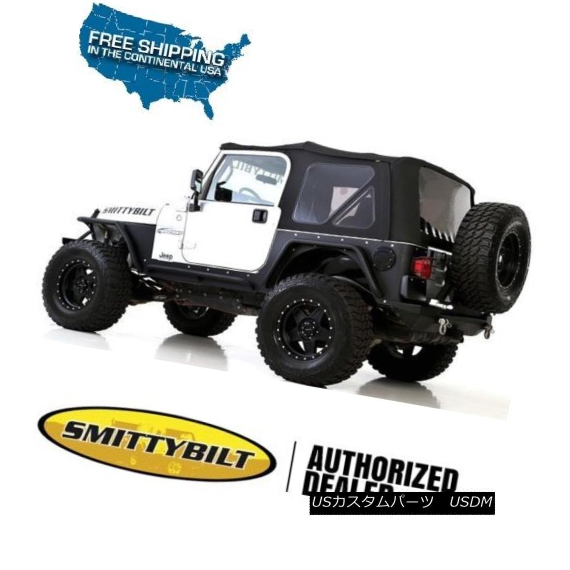 幌・ソフトトップ Smittybilt Premium Replacement Soft Top 97-06 Jeep Wrangler TJ 9974235 Black Smittybiltプレミアム交換ソフトトップ97-06ジープラングラーTJ 9974235ブラック