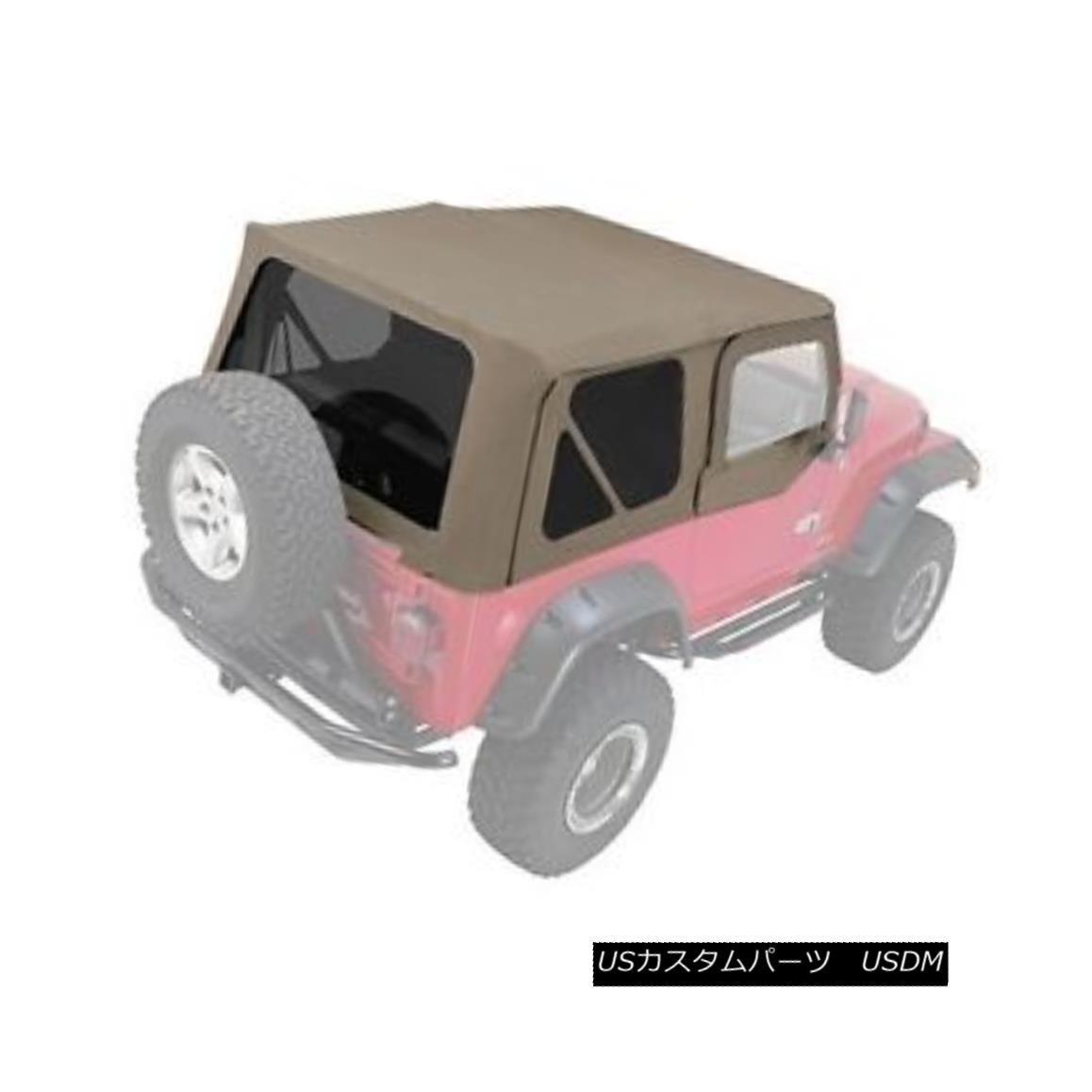 幌・ソフトトップ Rampage Complete Soft Top w/ Frame & Tint 97-06 Jeep Wrangler TJ 68536 Khaki ランペイジコンプリートソフトトップ(フレーム& ティント97-06ジープラングラーTJ 68536カーキ