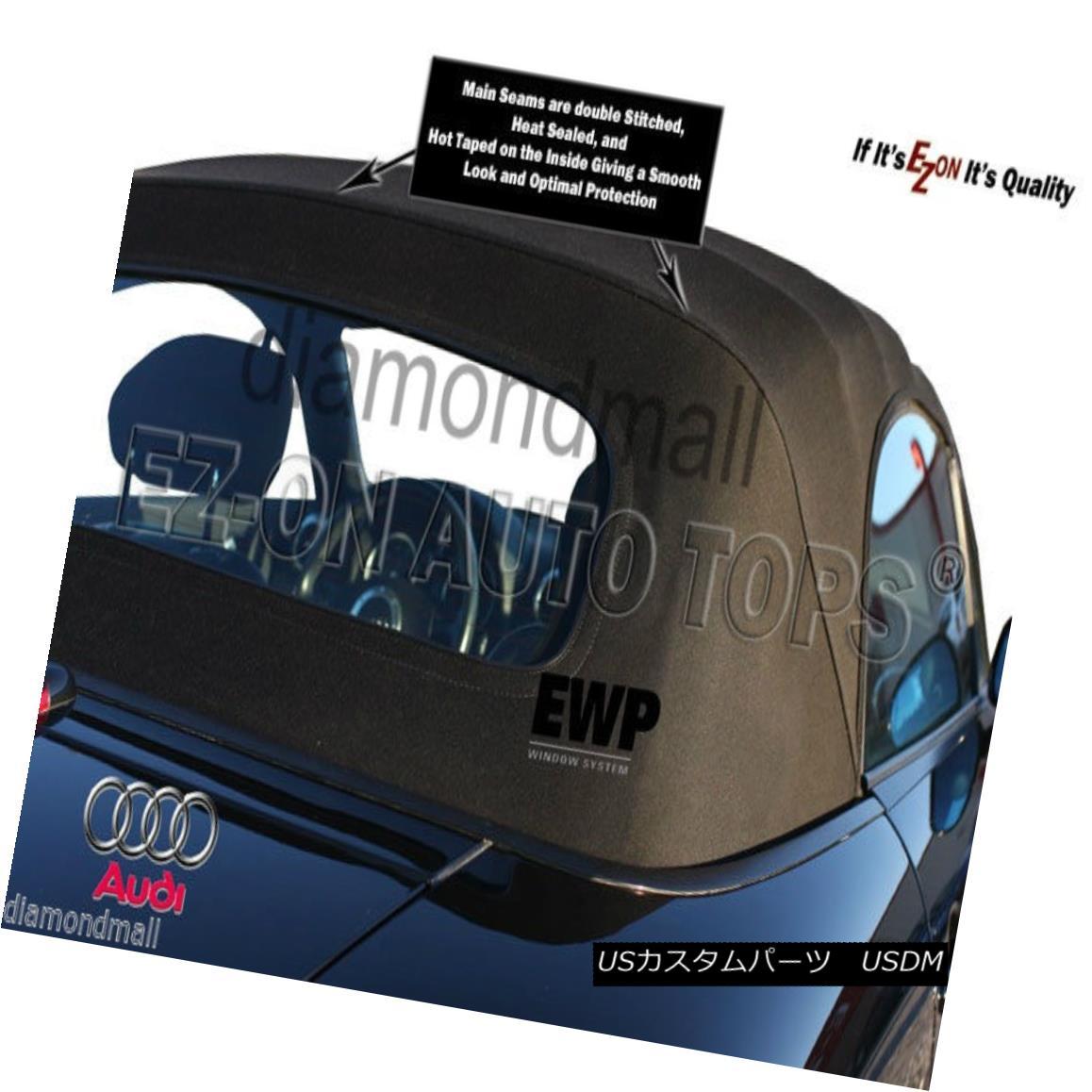 幌・ソフトトップ E-Z ON Audi TT 2000-05 Convertible Soft Top Black Twillfast II RPC Factory Cloth E-Z ONアウディTT 2000-05コンバーチブルソフトトップブラックツイルファーストII RPCファクトリークロス