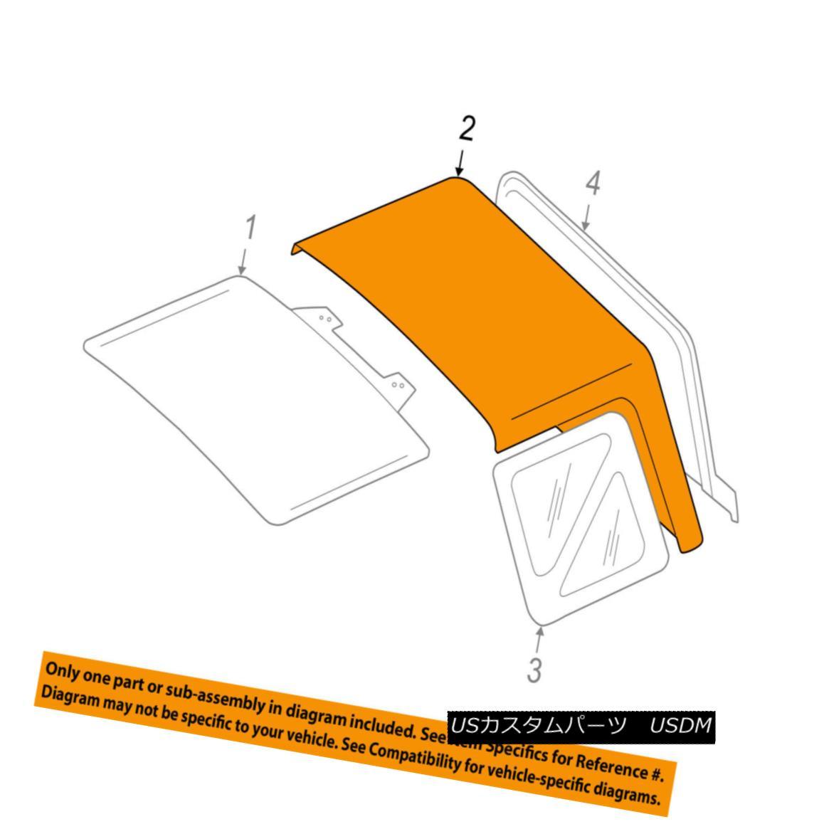 幌・ソフトトップ Chevrolet GM OEM 99-01 Tracker Convertible/soft Top-Folding Top 30024949 Chevrolet GM OEM 99-01トラッカー・コンバーチブル/ so ftトップ折りたたみトップ30024949