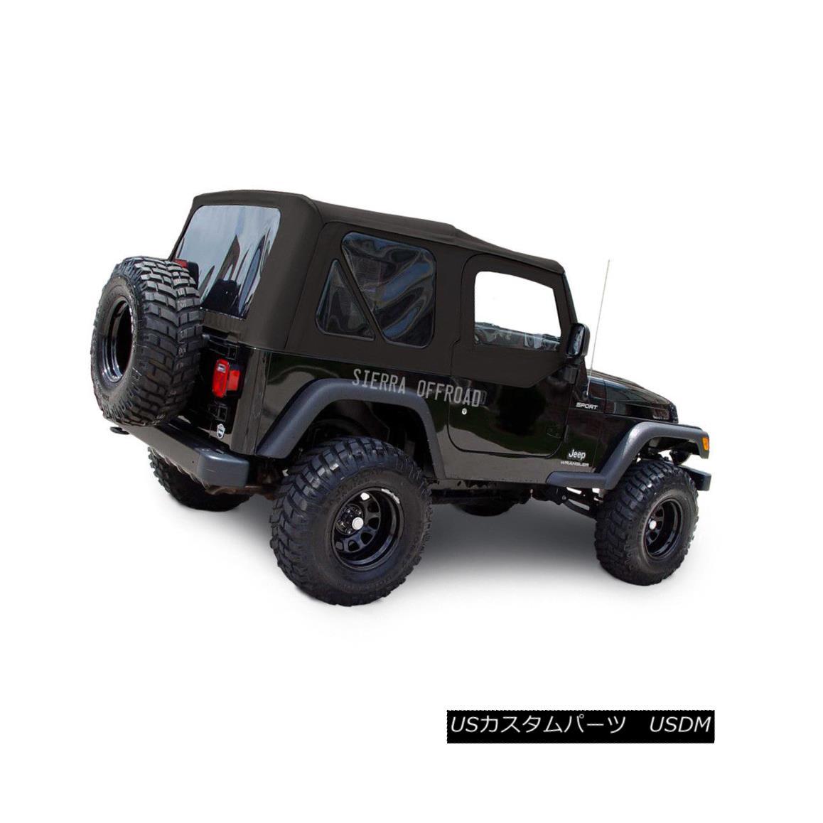 幌・ソフトトップ Jeep Wrangler TJ Soft top, 03-06, Tinted Windows, Upper Doors, Black Diamond ジープラングラーTJソフトトップ、03-06、ティンテッドウインドウ、アッパードア、ブラックダイヤモンド