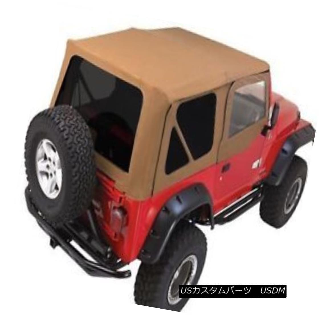 幌・ソフトトップ Rampage Complete Soft Top w/ Frame & Tint 97-06 Jeep Wrangler TJ 68517 Spice ランペイジコンプリートソフトトップ(フレーム& ティント97-06ジープラングラーTJ 68517スパイス