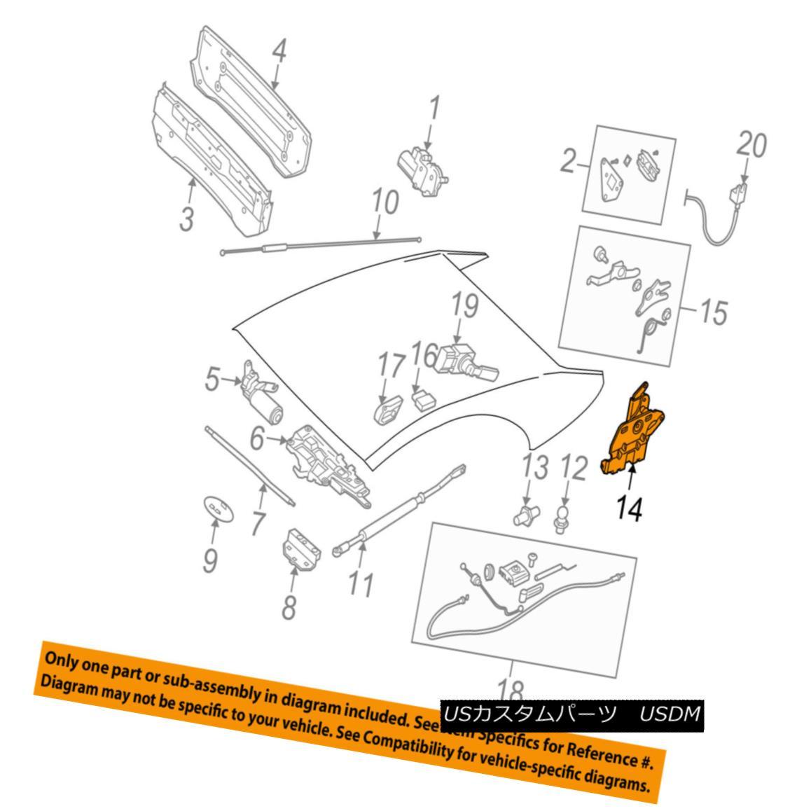 幌・ソフトトップ BMW OEM 06-10 650i Motor-Convertible/soft Top-Release Lever Right 54347159090 BMW OEM 06-10 650iモーター・コンバーチブル/ソフト・トップ・リリース・レバー右54347159090