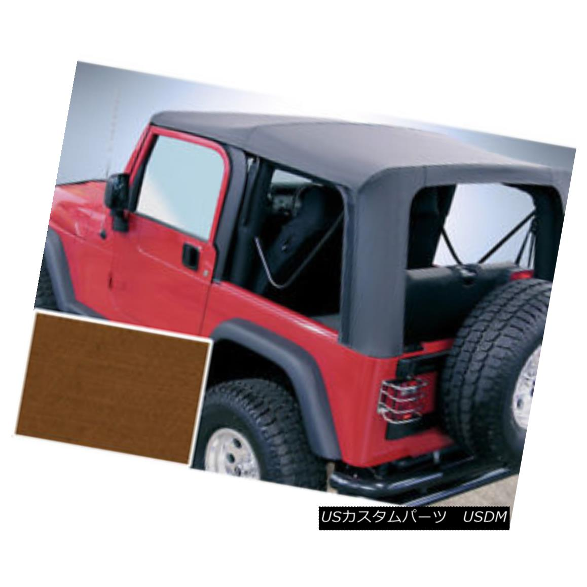 幌・ソフトトップ Rugged Ridge 13705.33 Soft Top Dark Tan Clear Windows 97-02 Jeep Wrangler Rugged Ridge 13705.33ソフトトップDark Tan Clear Windows 97-02ジープラングラー