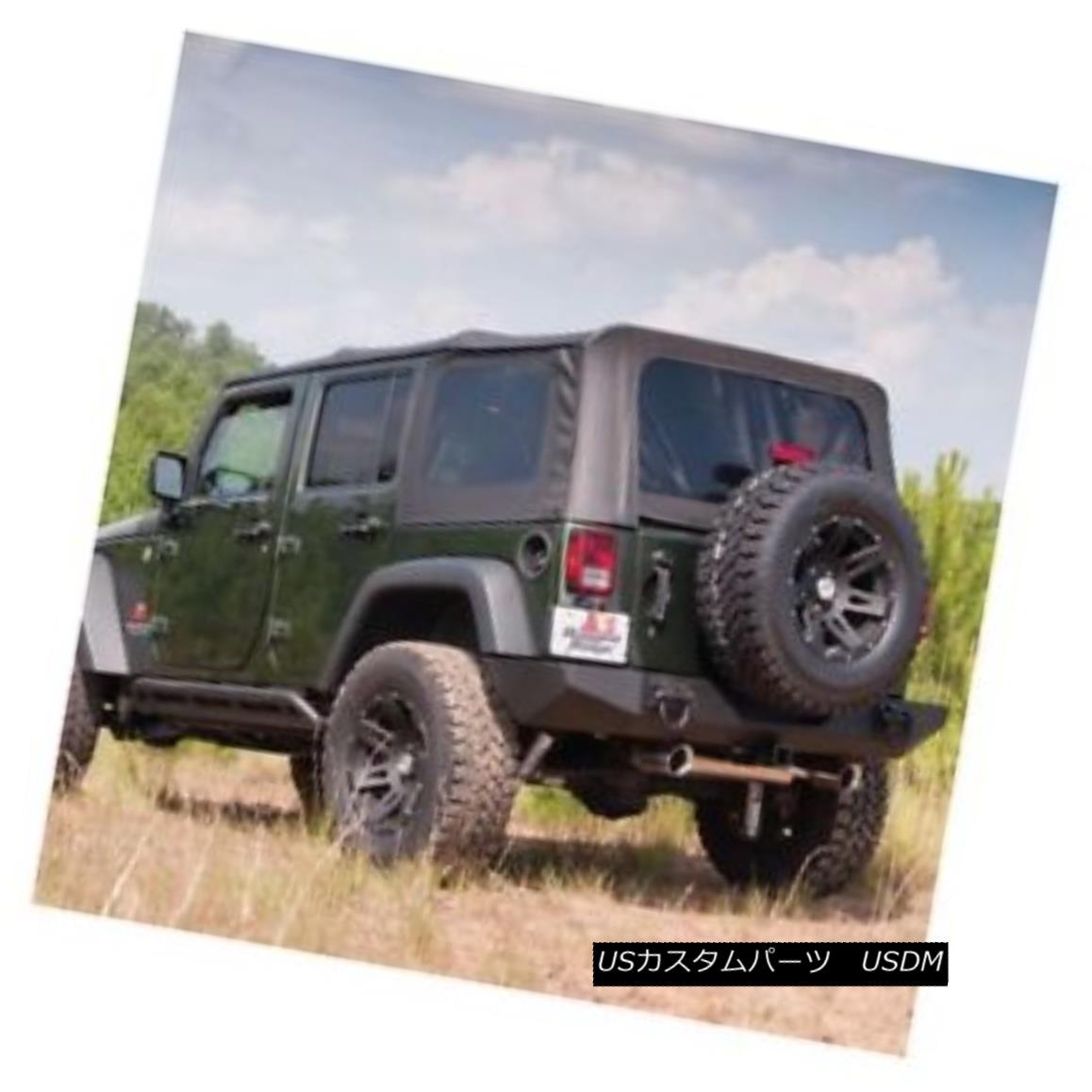 幌・ソフトトップ Rugged Ridge XHD Spring Assist Soft Top-Black, 07-09 Wrangler JK 4dr.; 13741.11 Rugged Ridge XHDスプリングアシストソフトトップブラック、07-09 Wrangler JK 4dr .; 13741.11