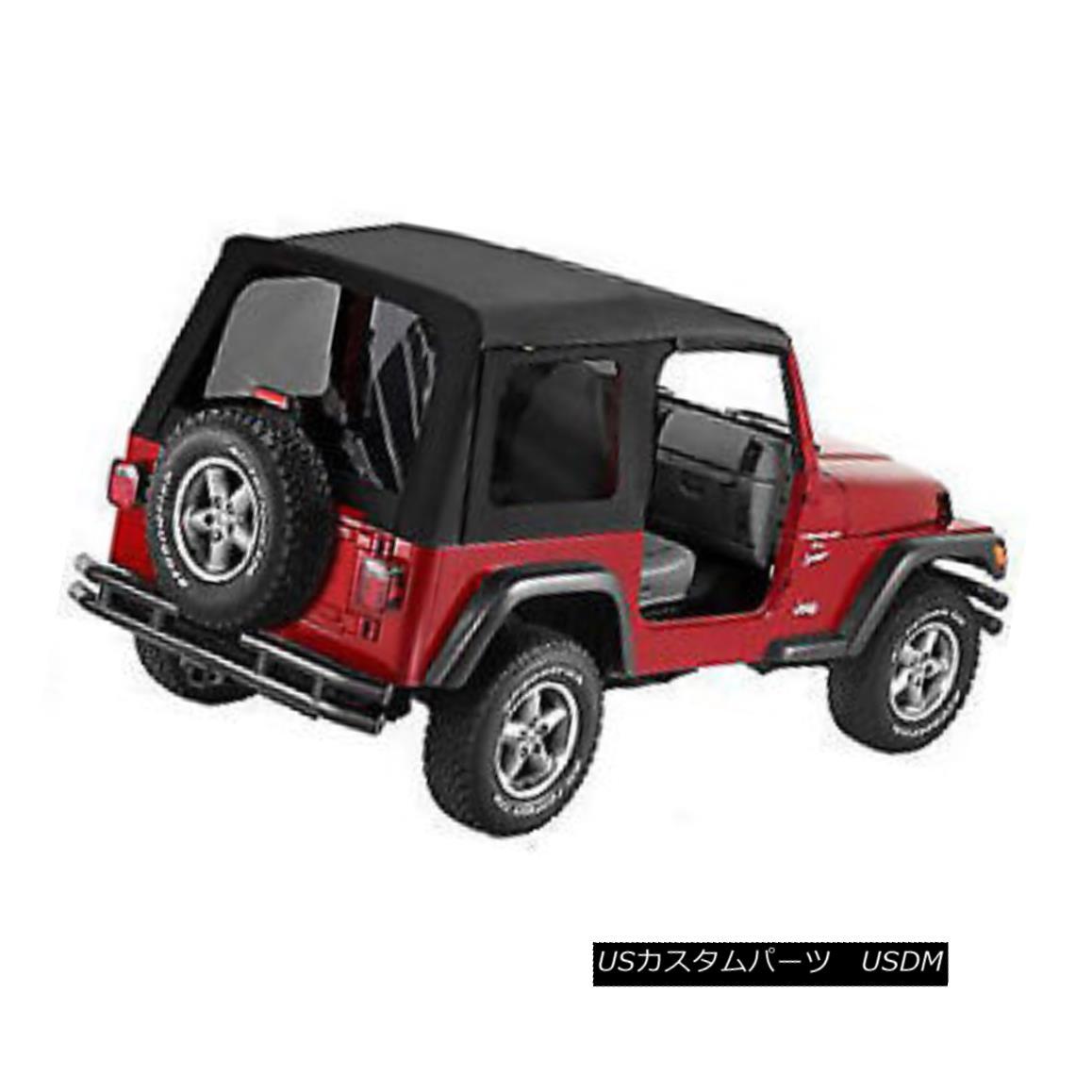 幌・ソフトトップ Bestop Supertop Replacement Skin 97-06 Jeep Wrangler TJ Tinted Black Denim Bestop Supertop Replacement Skin 97-06ジープラングラーTJティンテッドブラックデニム