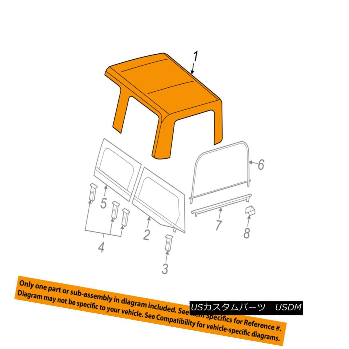 幌・ソフトトップ Jeep CHRYSLER OEM 2007 Wrangler Convertible/soft Top-Folding Top 1FS86SX9AA ジープクリライヤーOEM 2007 Wrangler Convertible / so ftトップ折りたたみトップ1FS86SX9AA