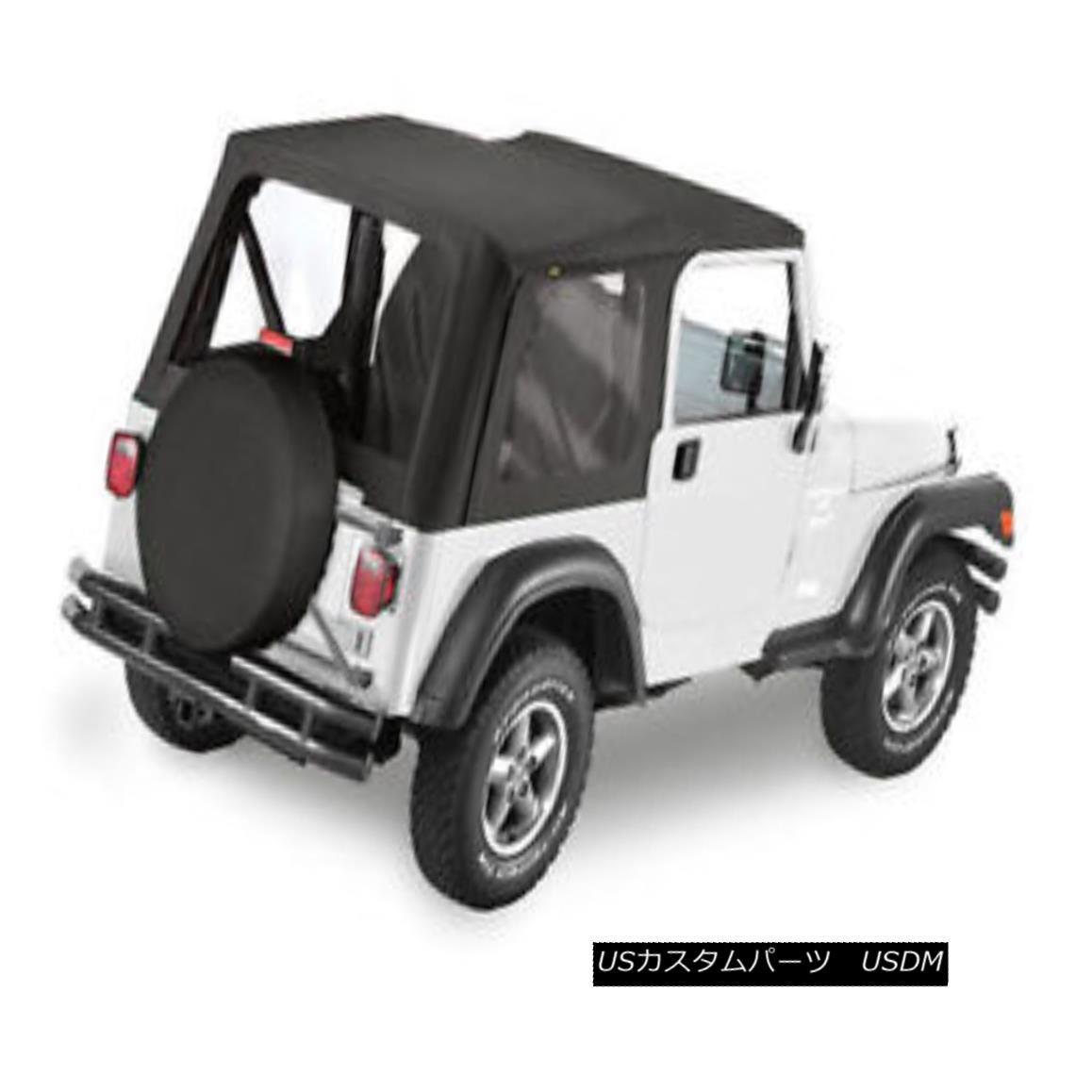 幌・ソフトトップ Bestop Replace A Top 97-02 Jeep Wrangler TJ Clear Windows Black Denim Bestop交換トップ97-02ジープラングラーTJクリアウィンドウブラックデニム