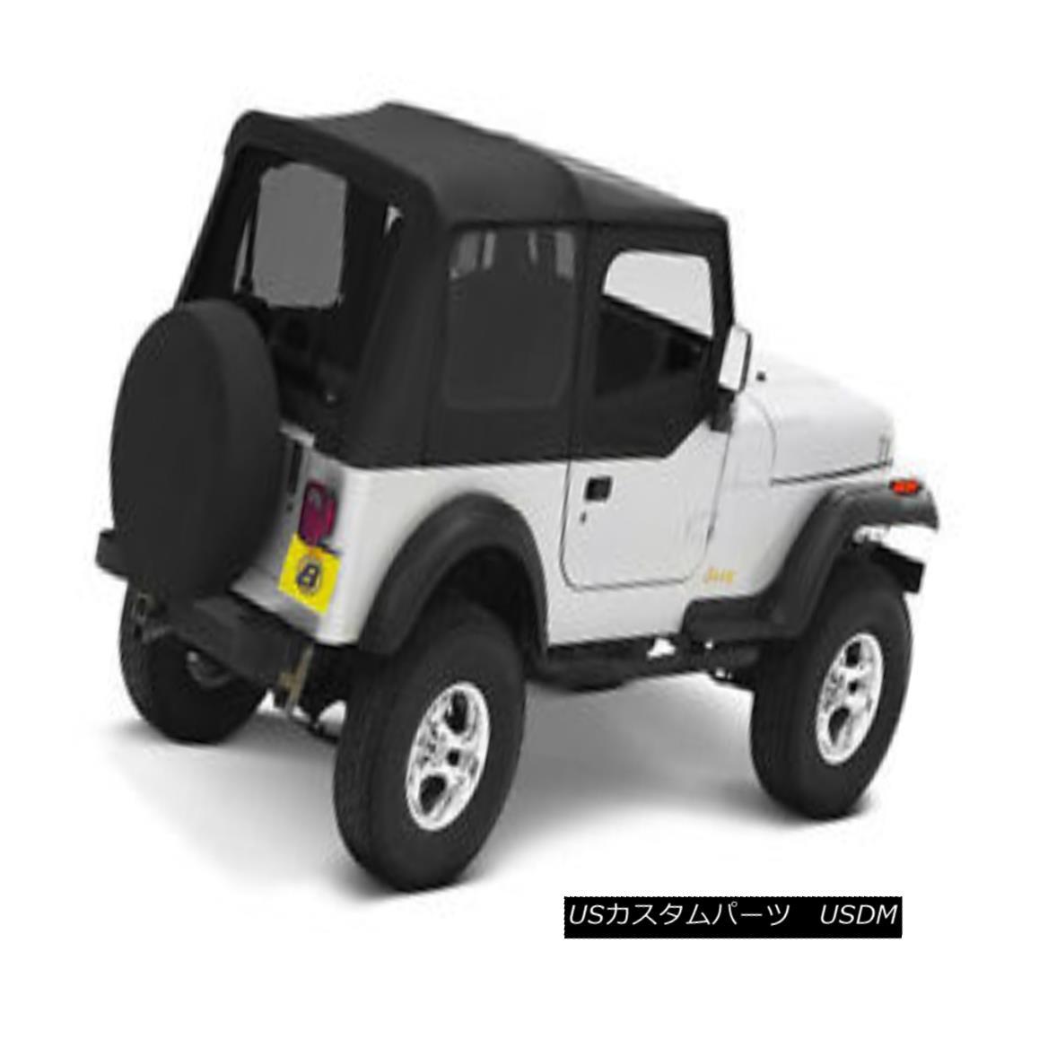 幌・ソフトトップ Bestop Replace A Top 88-95 Jeep Wrangler YJ Clear Half Door Skins Black Denim ベストトップ交換88-95ジープラングラーYJクリアハーフドアスキンブラックデニム