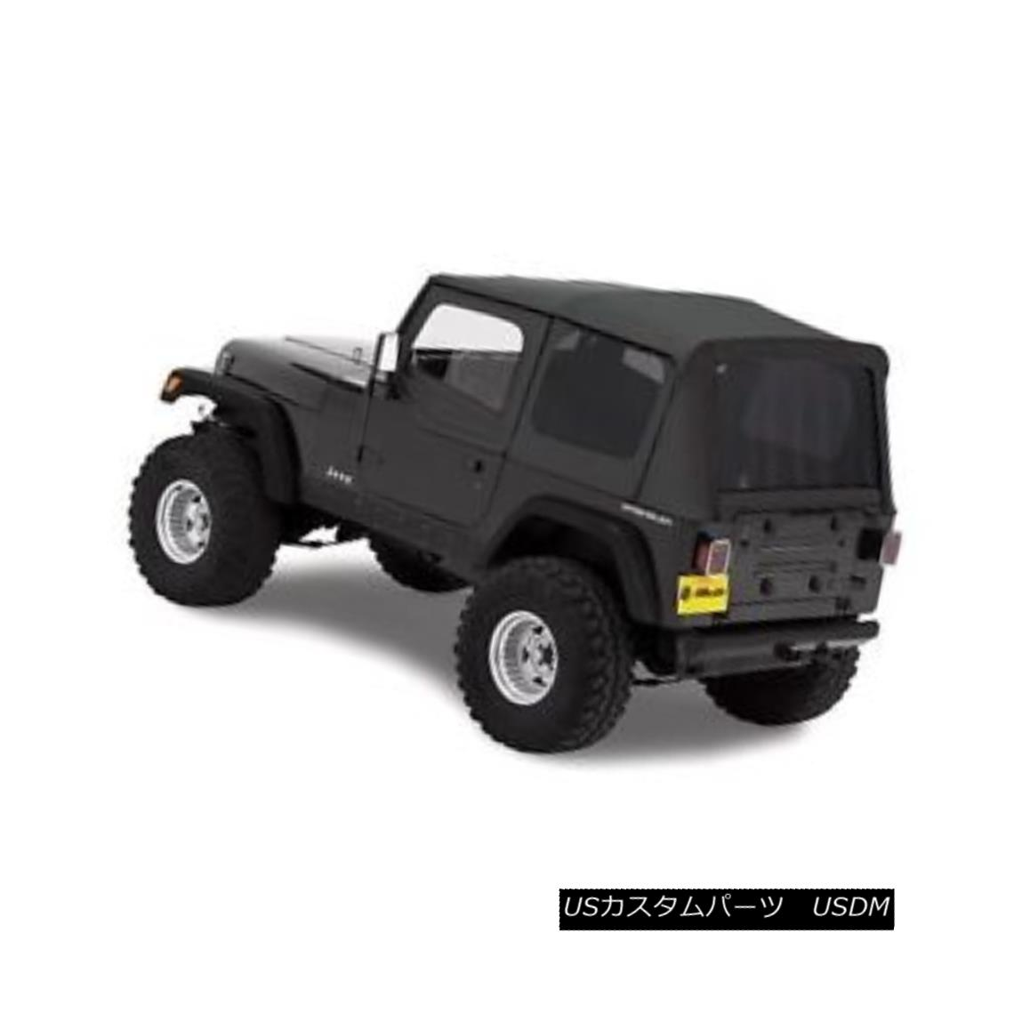 幌・ソフトトップ Bestop Replace A Top 88-95 Jeep Wrangler YJ Half Door Skins Tinted Black Denim Bestopを交換する88-95ジープラングラーYJハーフ・ドア・スキンは黒のデニムを染めた