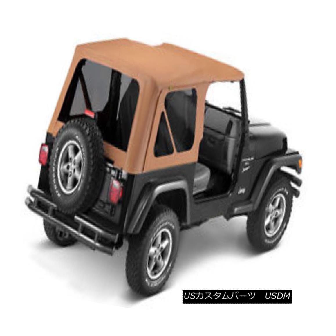 幌・ソフトトップ Bestop Replace A Top 97-02 Jeep Wrangler TJ Tinted Windows Spice Bestopを交換するトップ97-02ジープラングラーTJは、Windowsスパイスを着色