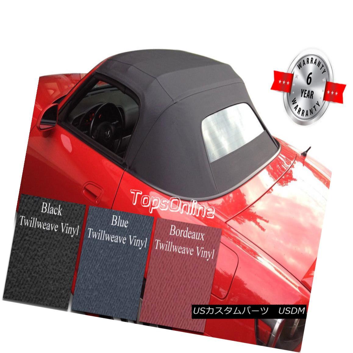 幌・ソフトトップ Honda S2000 Convertible Soft Top W/Heated Glass & Video, Twillweave Vinyl 02-09 ホンダS2000コンバーチブルソフトトップW /暖房ガラス& ビデオ、ツイル織りのビニール02-09