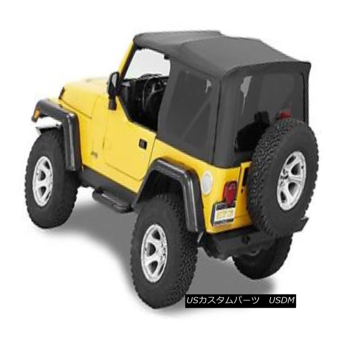 幌・ソフトトップ Bestop Supertop NX 88-95 Jeep Wrangler YJ Tinted No Doors Black Crush Bestop Supertop NX 88-95ジープラングラーYJティンテッドノードアブラッククラッシュ