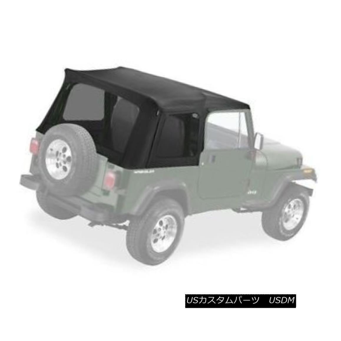 幌・ソフトトップ Bestop Supertop Replacement Skin 76-95 Jeep CJ7 / Wrangler Tinted Windows Black Bestop Supertop Replacement Skin 76-95ジープCJ7 / Wrangler Tinted Windowsブラック