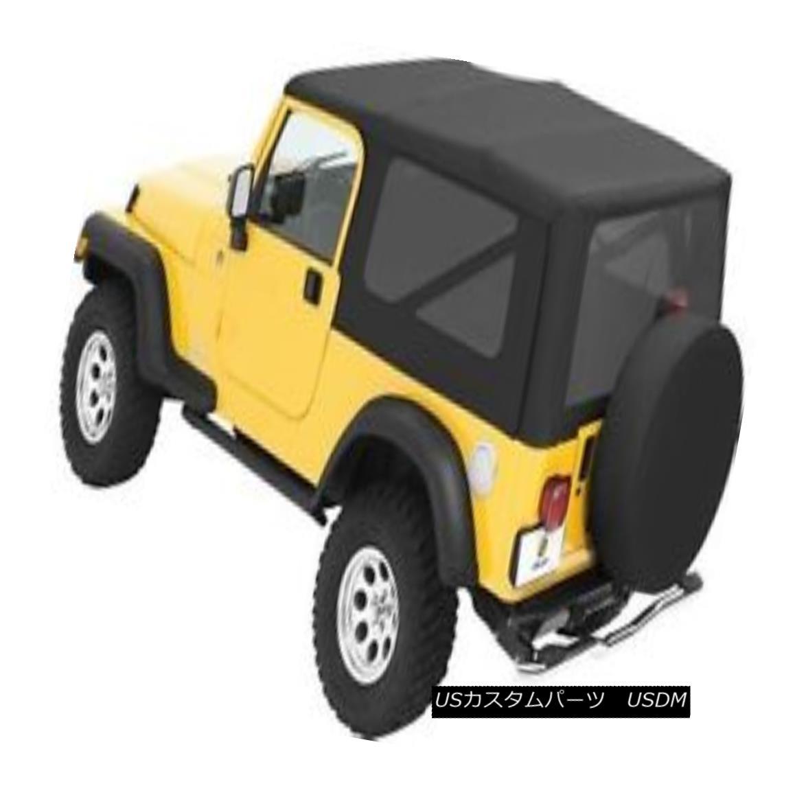 幌・ソフトトップ Bestop Sailcloth Replace A Top 04-06 Jeep Wrangler Unlimited Tint Windows Black Bestop Sailclothトップを交換する04-06ジープラングラー無制限ティントWindowsブラック