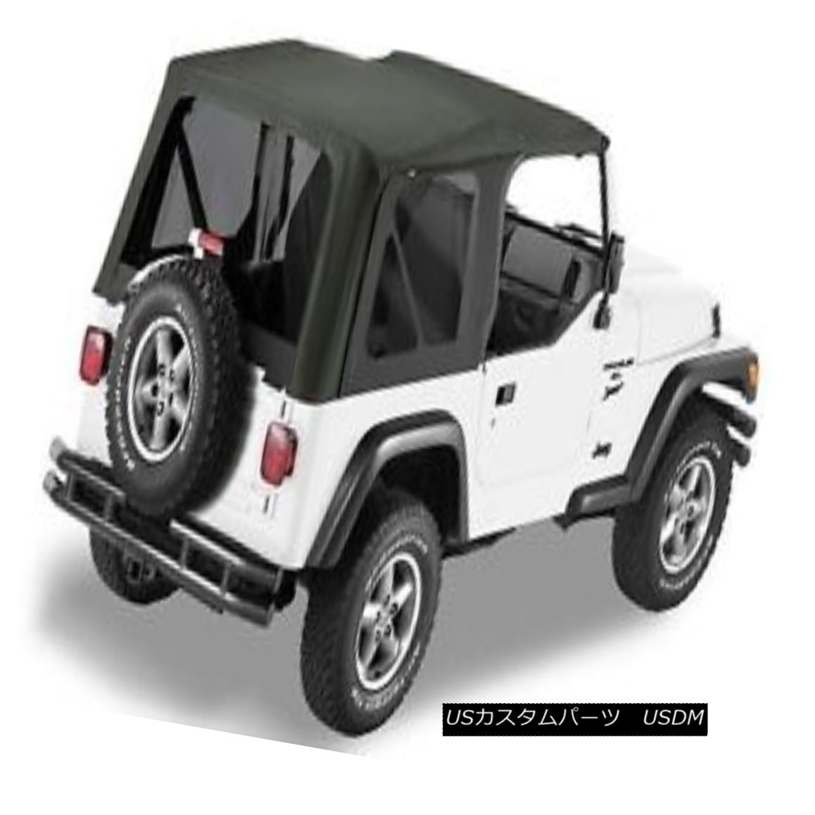 幌・ソフトトップ Bestop Sailcloth Replace A Top 97-02 Jeep Wrangler TJ Tinted Windows Black Crush Bestop Sailclothは、トップ97-02ジープラングラーTJは、Windowsブラッククラッシュを着色交換