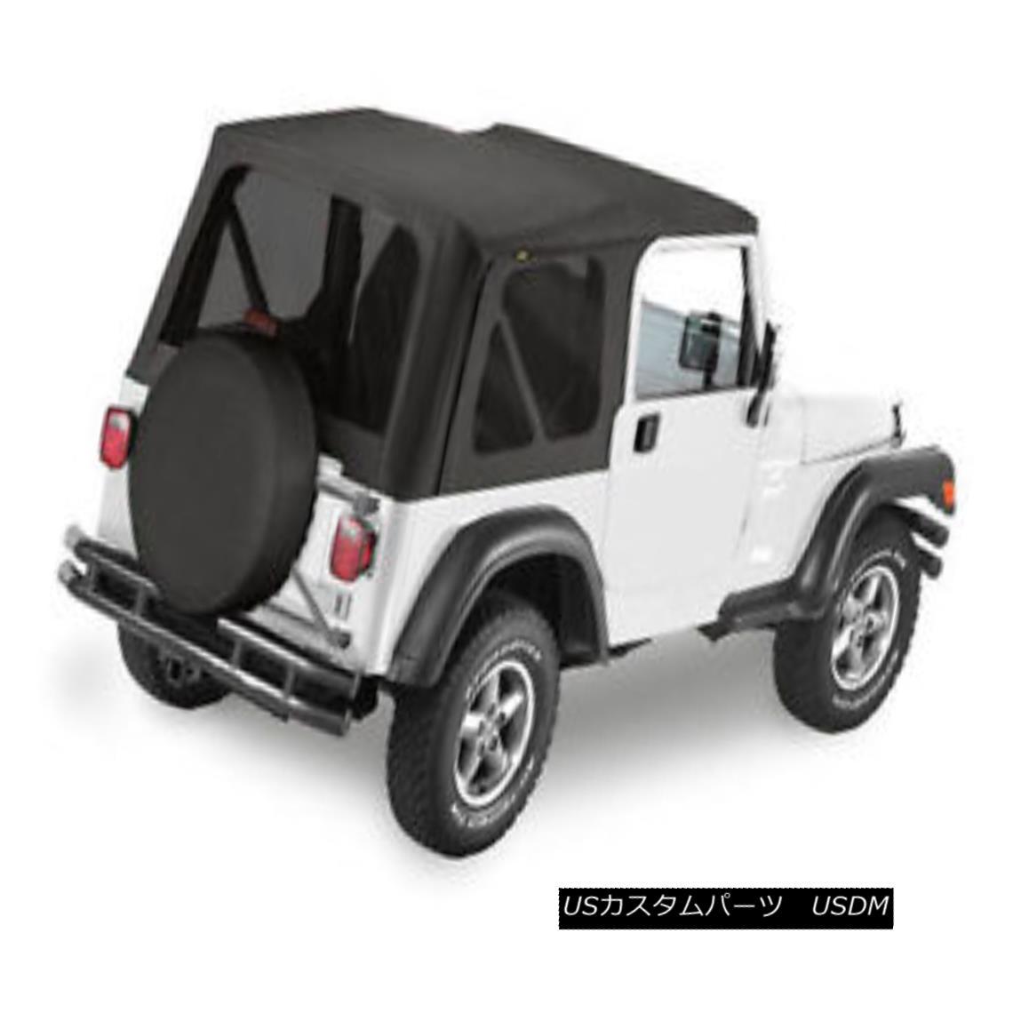 幌・ソフトトップ Bestop Replace A Top 03-06 Jeep Wrangler TJ Tinted Windows Black Diamond Bestop交換トップ03-06ジープ・ラングラーTJティンテッド・ウィンドウ・ブラック・ダイヤモンド