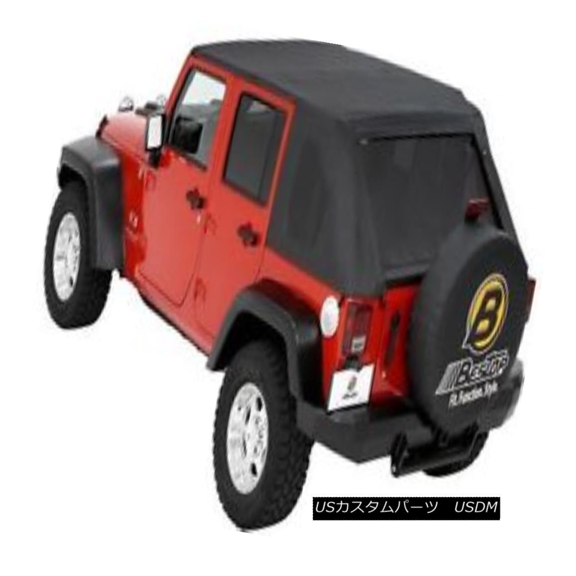 幌・ソフトトップ Bestop Classic TrekTop 07-16 Jeep Wrangler Unlimited Tint Windows Black Diamond Bestop Classicトレックトップ07-16ジープラングラー無制限ティントウィンドウブラックダイヤモンド