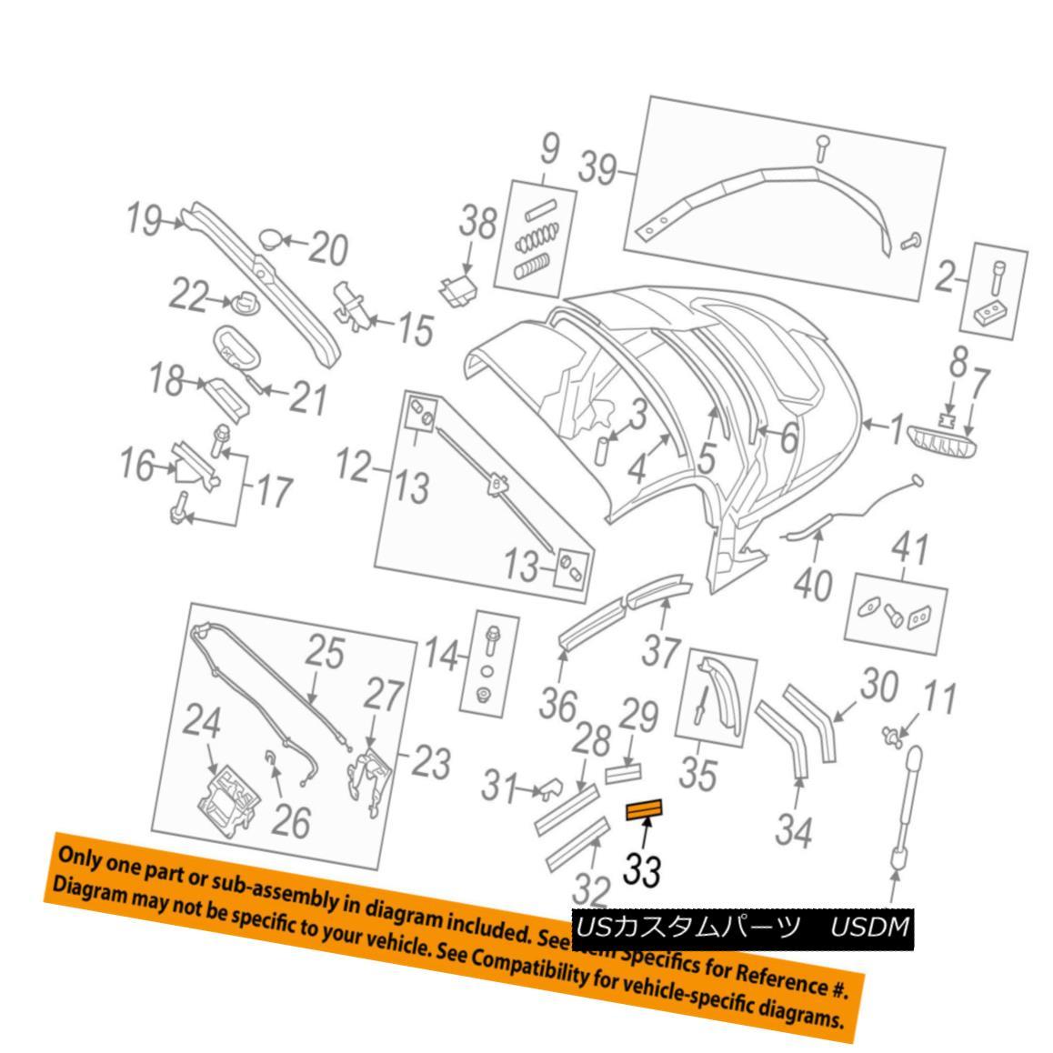 幌・ソフトトップ AUDI OEM 08-15 TT Quattro Convertible/soft Top-Channel Gasket Right 8J7871416 AUDI OEM 08-15 TT Quattro Convertible / so ftトップチャンネルガスケット右8J7871416