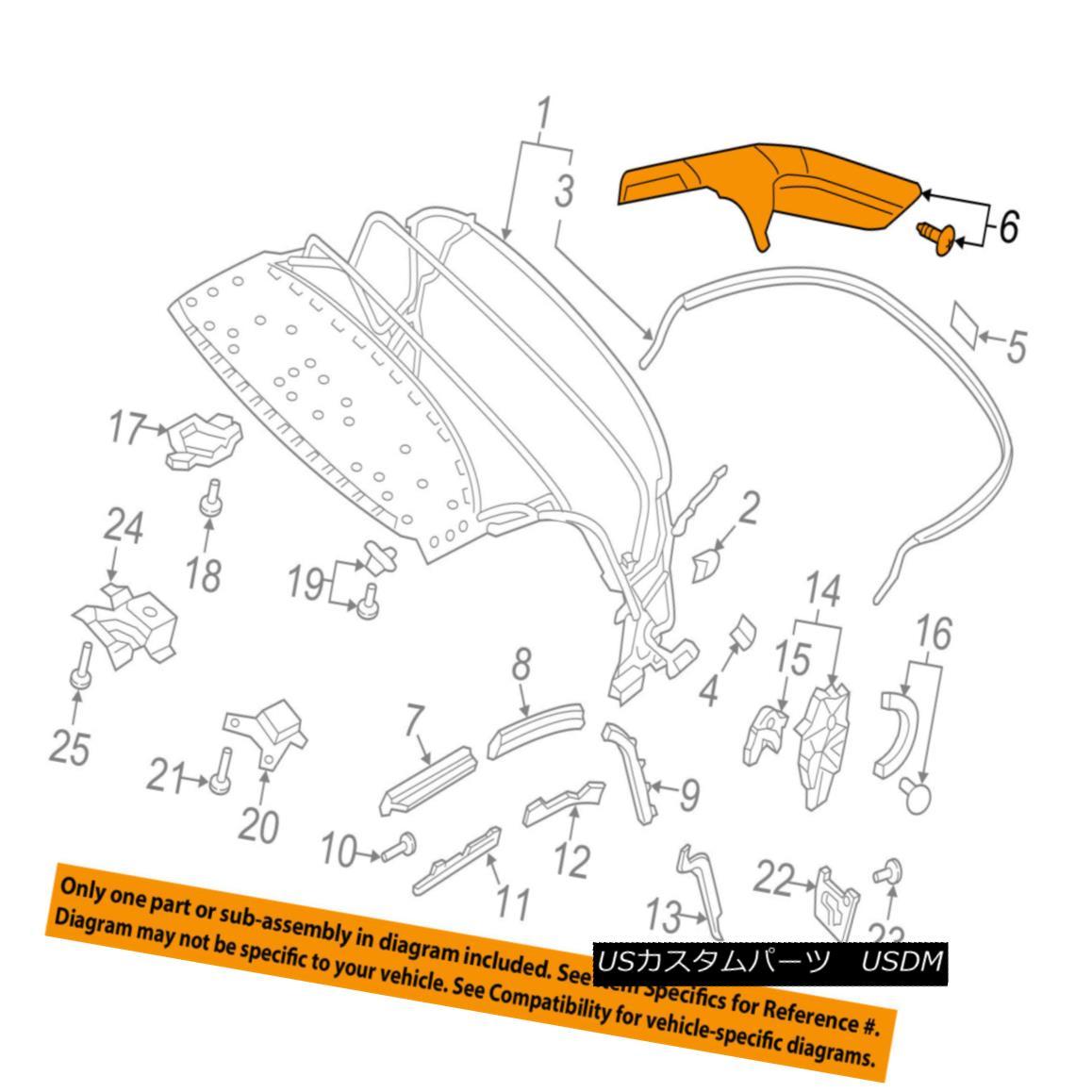 幌・ソフトトップ AUDI OEM 16-17 TT Quattro Convertible/soft Top-Mount Strap 8S7898241 AUDI OEM 16-17 TT Quattro Convertible / so ftトップマウントストラップ8S7898241