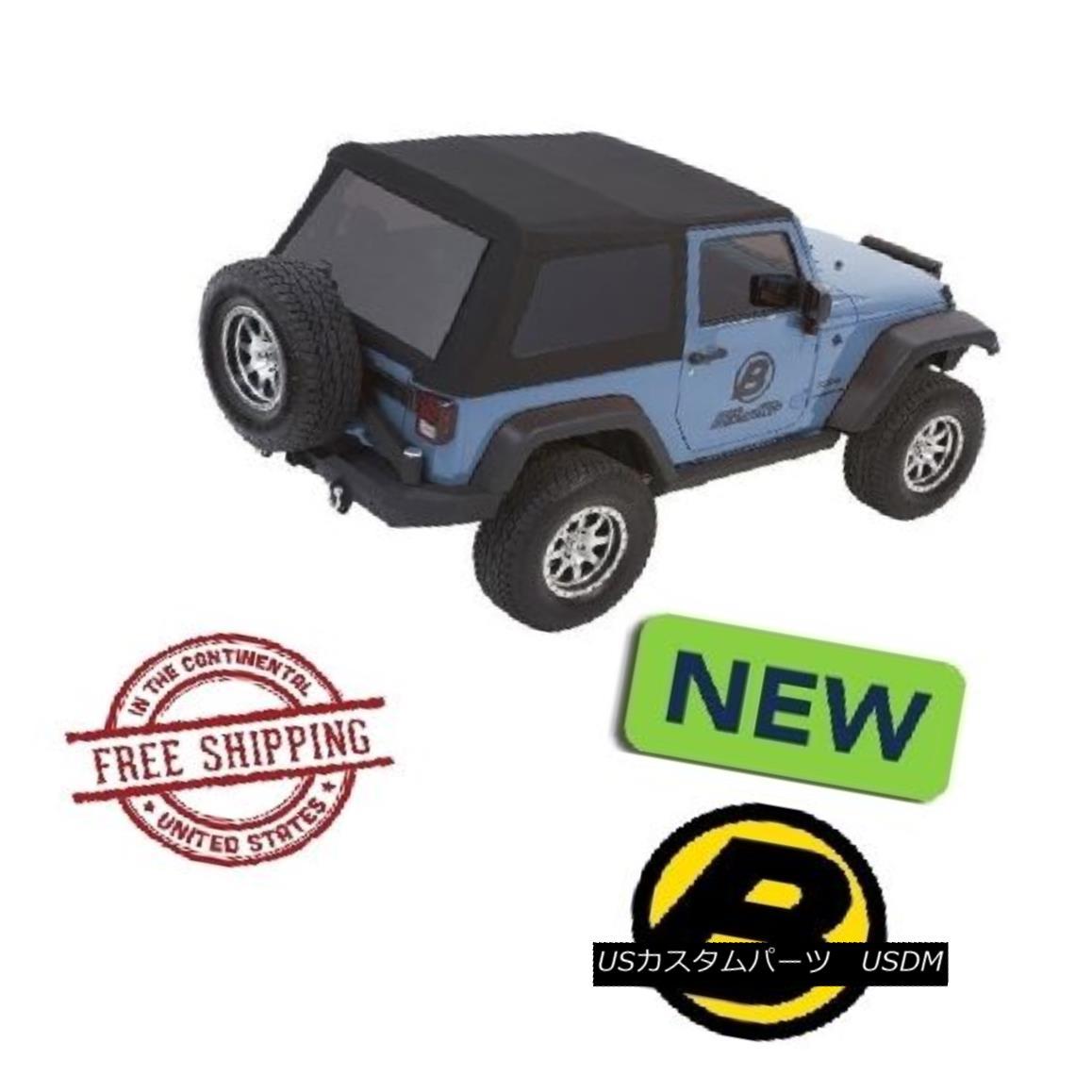 幌・ソフトトップ Bestop Trektop? NX Glide? Soft Top 07-17 Jeep Wrangler JK 2 Door Black Twill Bestop Trektop? NXグライド? ソフトトップ07-17ジープラングラーJK 2ドアブラックツイル