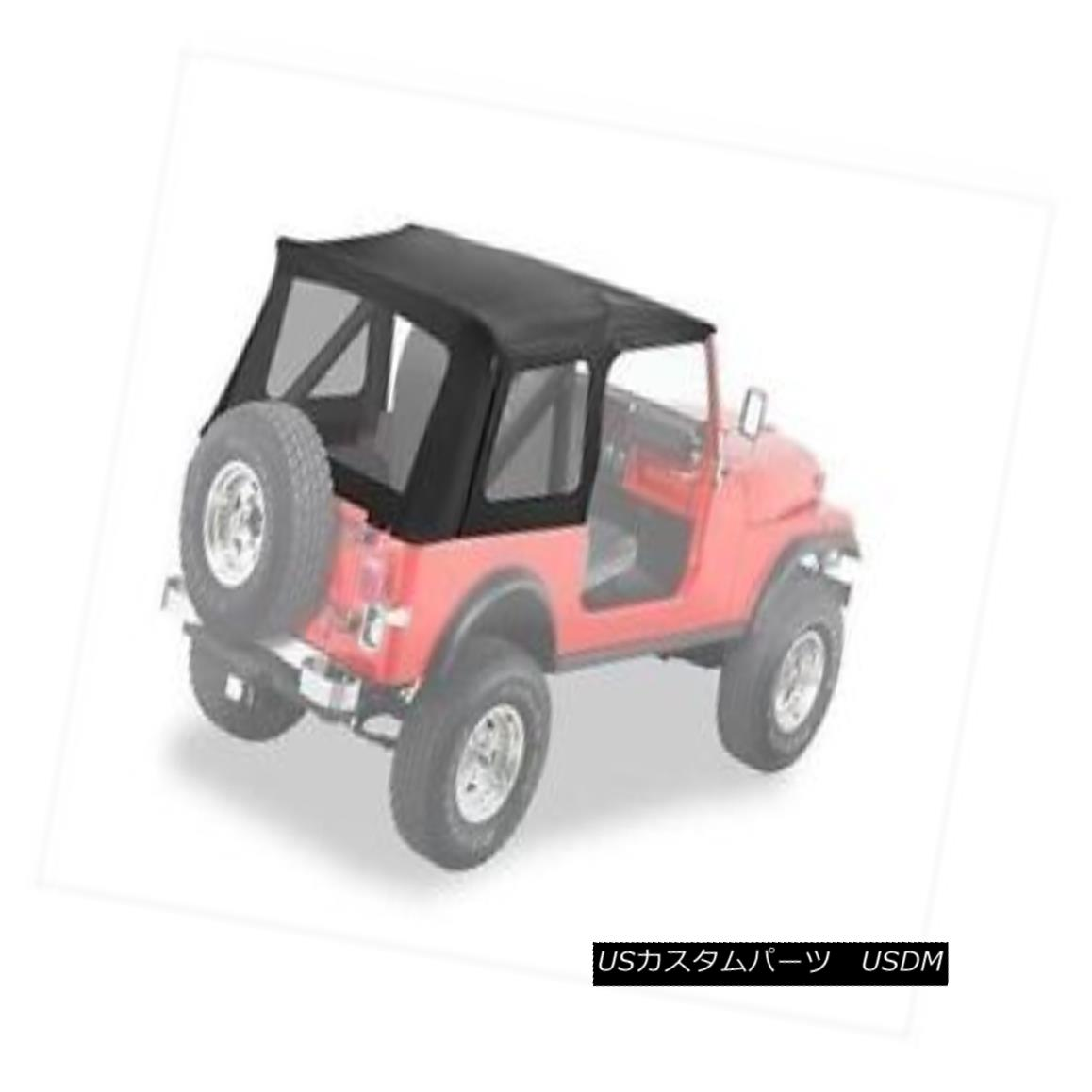 幌・ソフトトップ Bestop Supertop Replacement Skin 76-95 Jeep CJ7 / Wrangler Clear Windows Black Bestopスーパートップ交換用スキン76-95ジープCJ7 /ラングラークリアウィンドウブラック