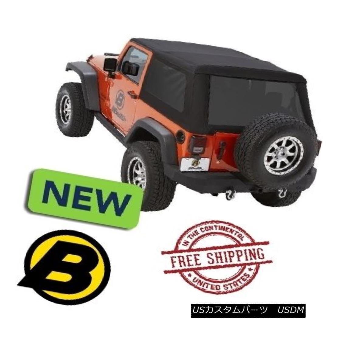 幌・ソフトトップ Bestop Trektop? NX Glide? Soft Top 07-17 Jeep Wrangler JK 2 Door Black Diamond Bestop Trektop? NXグライド? ソフトトップ07-17ジープラングラーJK 2ドアブラックダイヤモンド