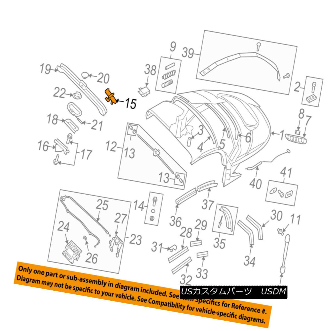幌・ソフトトップ AUDI OEM 08-09 TT Quattro Convertible/soft Top-Catch Left 8J7871405 AUDI OEM 08-09 TT Quattro Convertible / so ftトップキャッチ左8J7871405