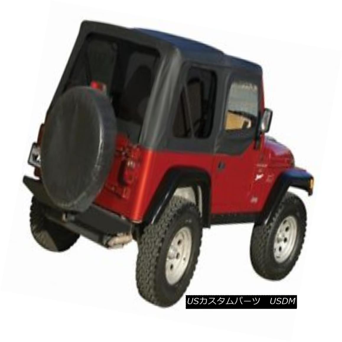 幌・ソフトトップ Complete Soft Top w/ Upper Half Doors, 1997-2006 Jeep Wrangler TJ -Black Diamond 上の半分のドア、1997-2006年の完全なソフトトップジープラングラーTJ - ブラックダイヤモンド