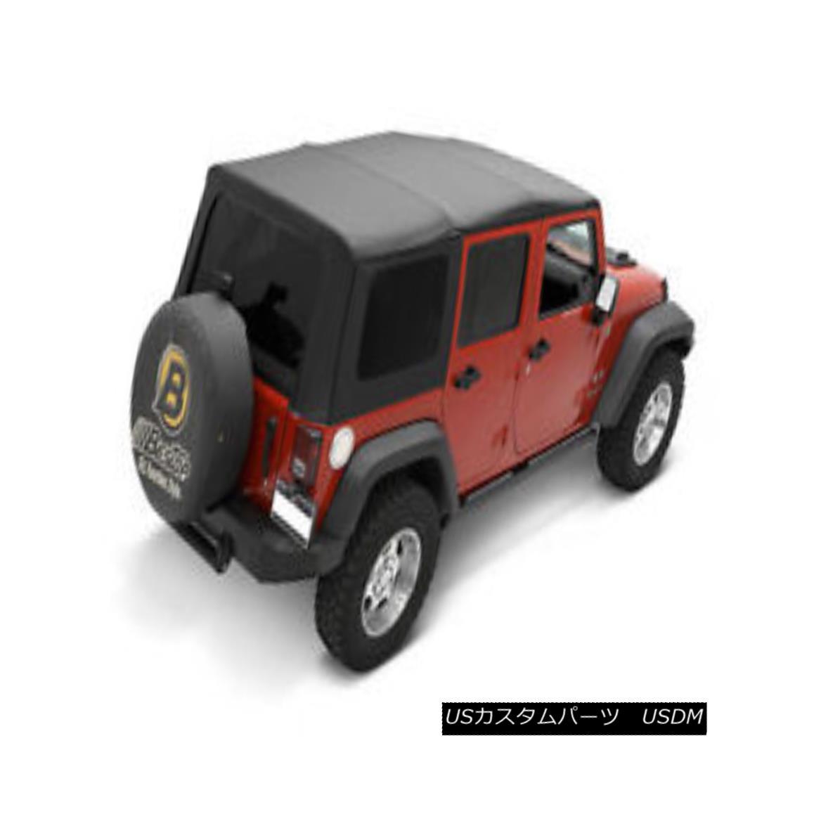 幌・ソフトトップ Bestop Sailcloth Replace A Top 11-17 Jeep Wrangler Unlimited 4 DR Tint Black ベストトップセイルクロストップ11-17ジープラングラーアンリミテッド4 DRティントブラック