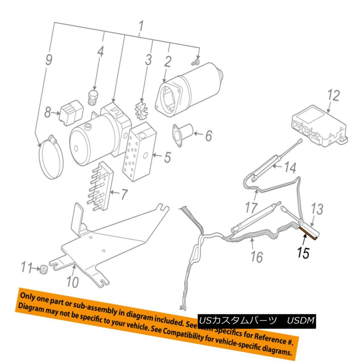 幌・ソフトトップ AUDI OEM 03-09 A4 Motor-Convertible/soft Top-Oil Pipe Right 8H0871794A AUDI OEM 03-09 A4モーター・コンプレッサー/ソフト・トップオイル・パイプ・ライト8H0871794A