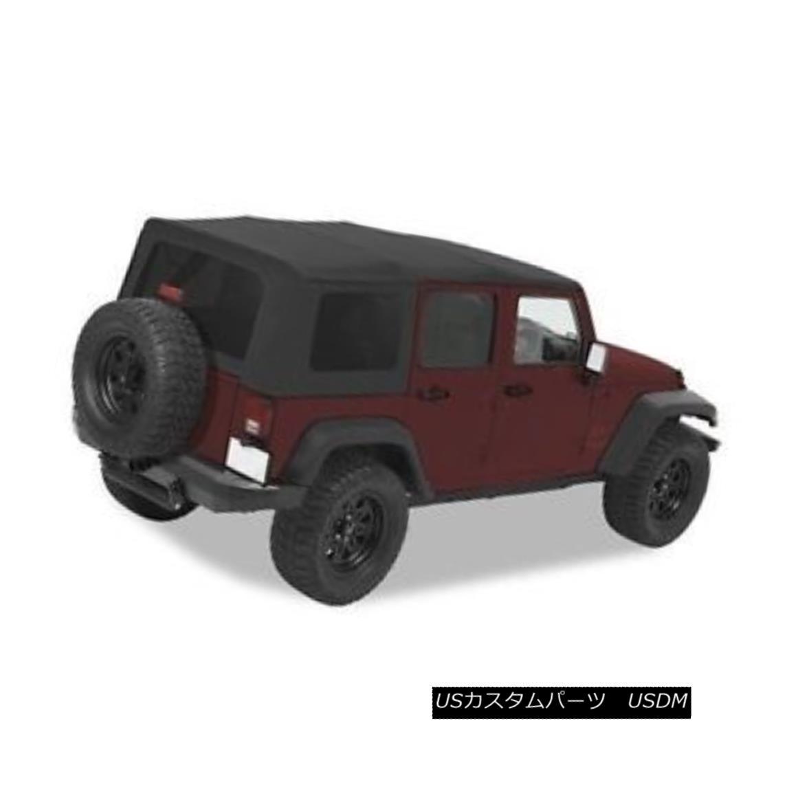 幌・ソフトトップ Bestop Sailcloth Replace A Top 07-09 Jeep Wrangler Unlimited Tint Black Diamond Bestop Sailclothトップを交換する07-09ジープラングラー無制限ティントブラックダイヤモンド