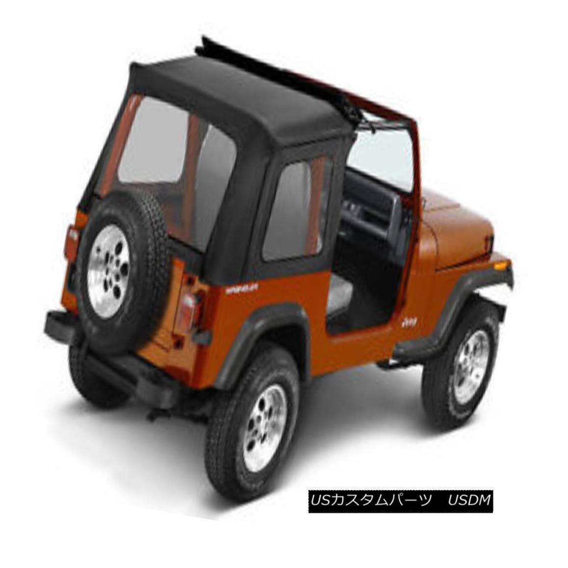 幌・ソフトトップ Bestop Sunrider 76-95 Jeep CJ7 / Wrangler YJ Clear Windows Black Crush Bestopサンライダー76-95ジープCJ7 /ラングラーYJクリアウィンドウブラッククラッシュ