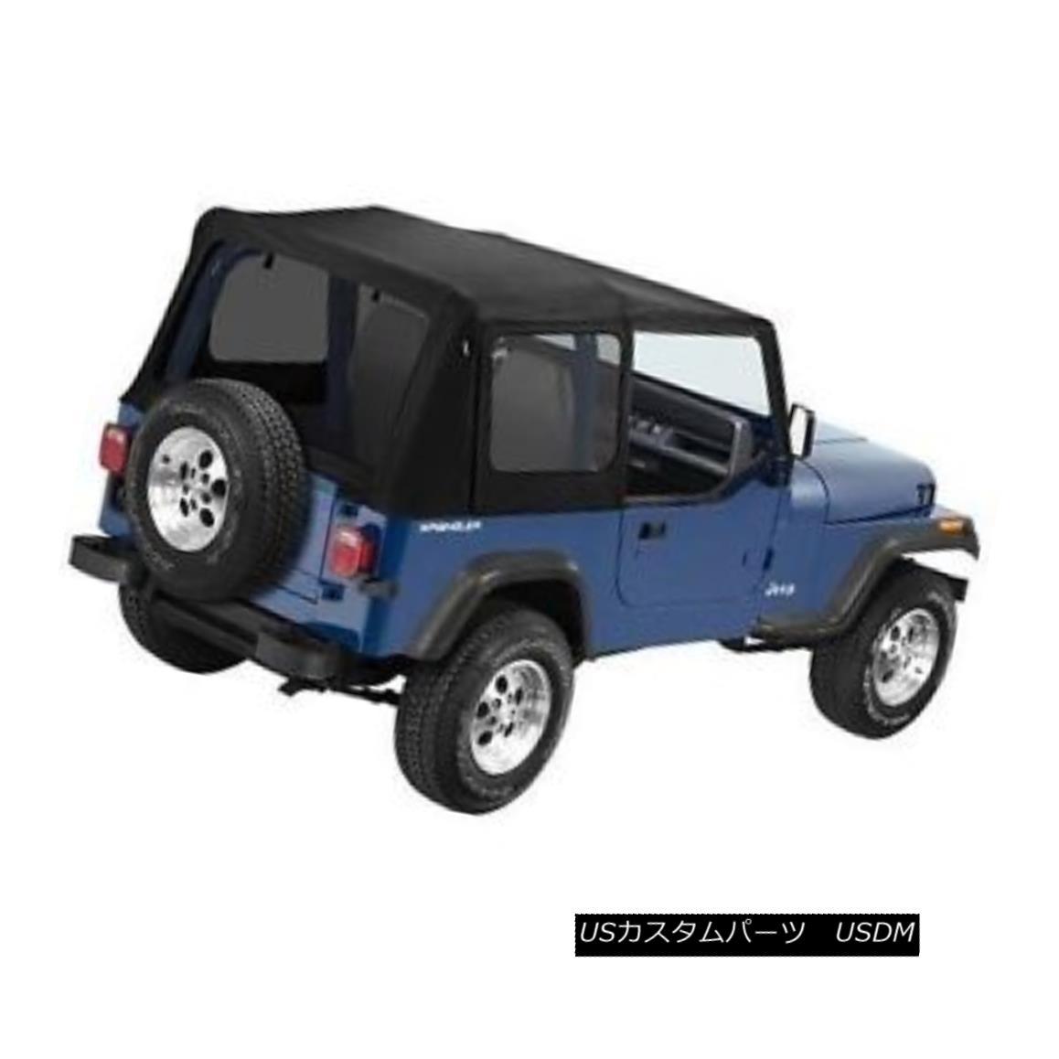 幌・ソフトトップ Bestop Supertop NX 88-95 Jeep Wrangler YJ Tinted No Doors Black Denim Bestop Supertop NX 88-95ジープラングラーYJティンテッドノードアズブラックデニム