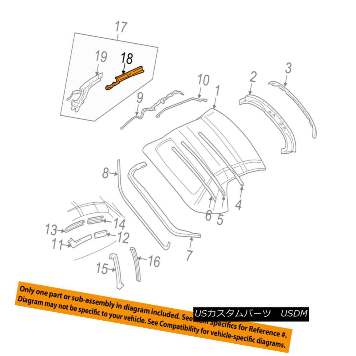 幌・ソフトトップ Chevrolet GM OEM 98-04 Corvette Convertible/soft Top-Rail Left 88953885 シボレーGM OEM 98-04コルベット・コンバーチブル/ so ftトップレール左88953885