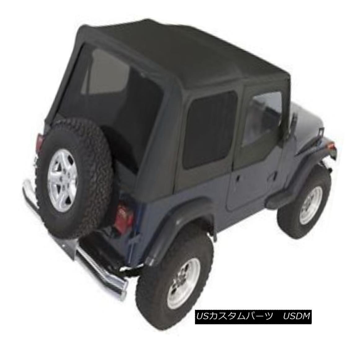 幌・ソフトトップ Rampage Complete Soft Top w/ Frame & Tint 87-95 Jeep Wrangler YJ 68215 Black ランペイジコンプリートソフトトップ(フレーム& ティント87-95ジープラングラーYJ 68215ブラック