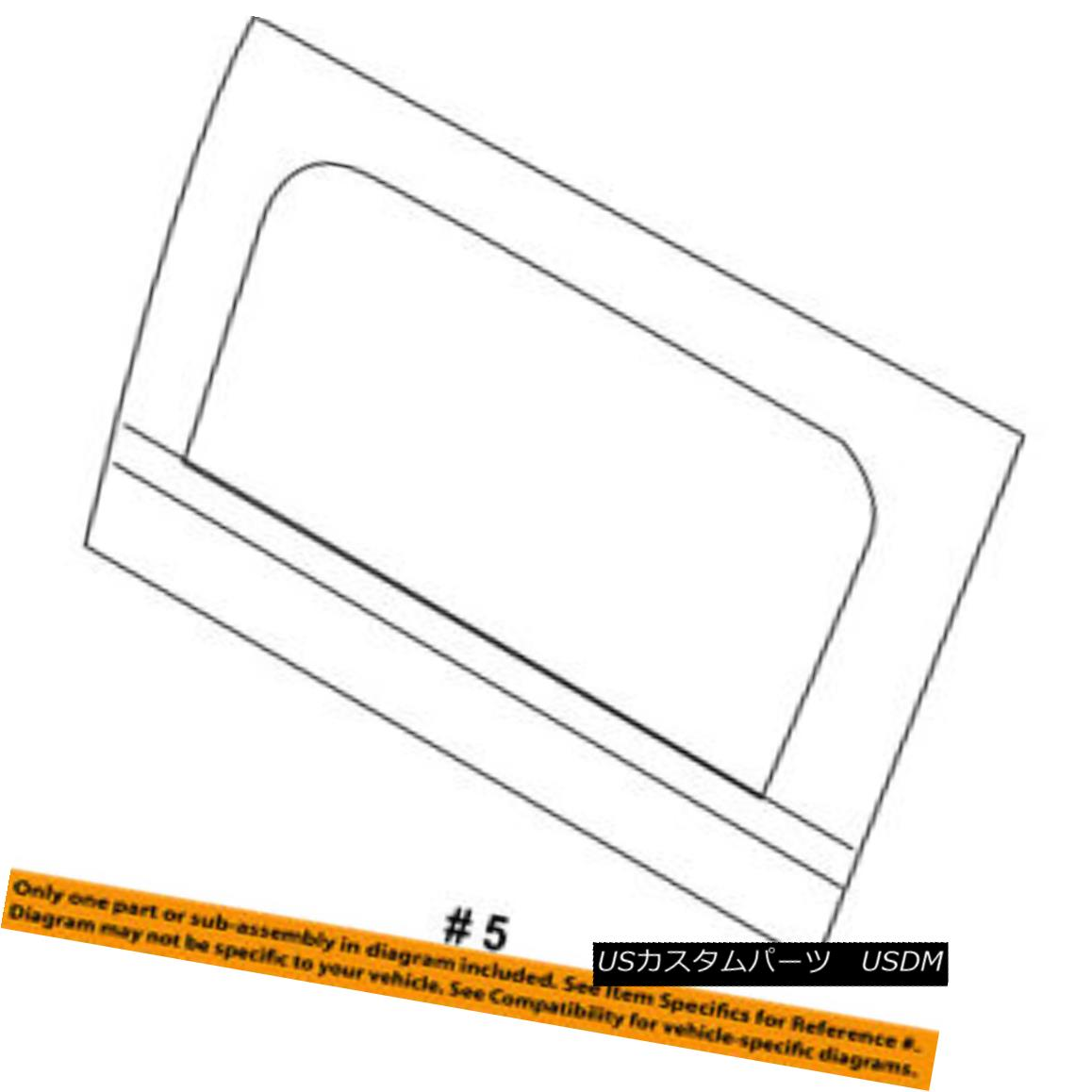幌・ソフトトップ Jeep CHRYSLER OEM Wrangler Convertible/soft Top-Side Glass Right 5SQ72SX9AC ジープCHRYSLER OEMラングラー・コンバーチブル/ so ftトップサイドガラス右5SQ72SX9AC