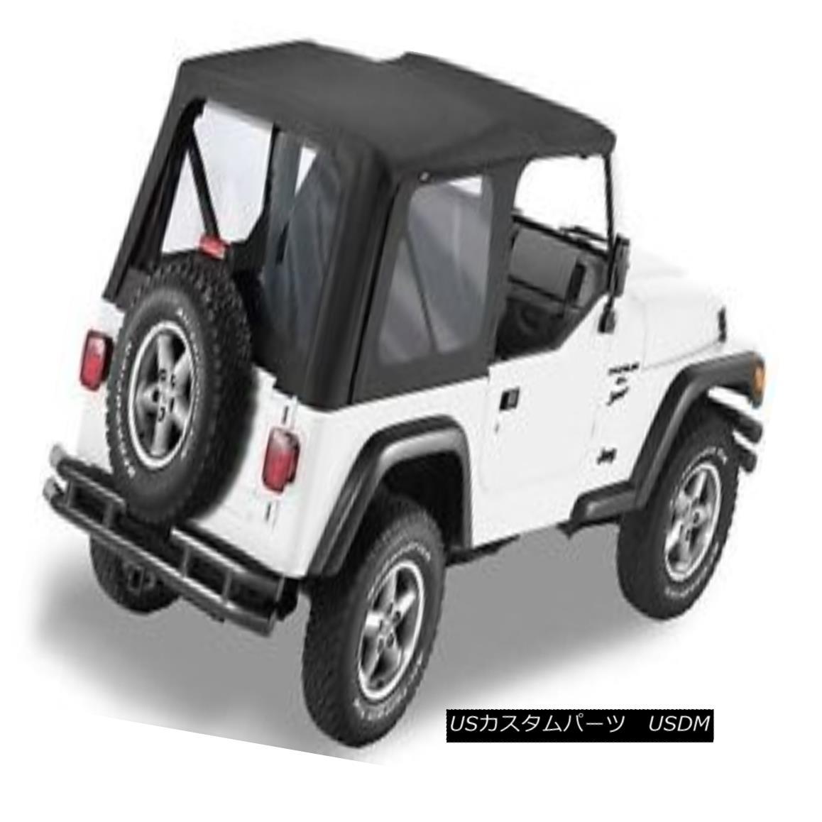 幌・ソフトトップ Bestop Sailcloth Replace A Top 97-02 Jeep Wrangler TJ Clear Windows Black Crush Bestop Sailclothがトップ97-02ジープラングラーTJ Clear Windows Black Crushを交換