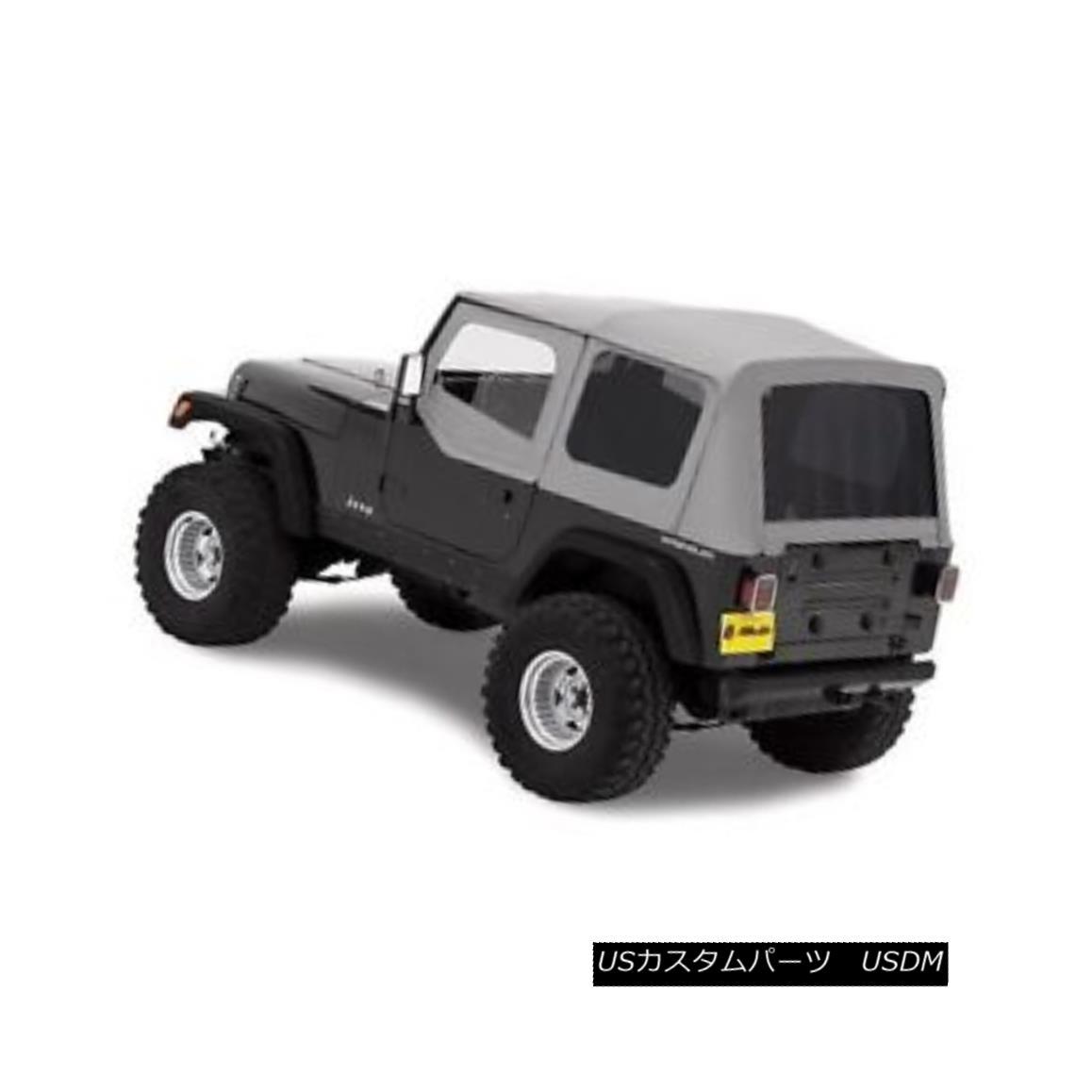 幌・ソフトトップ Bestop Replace A Top 88-95 Jeep Wrangler YJ Half Door Skins Tinted Charcoal Bestopを交換する88-95ジープラングラーYJハーフ・ドア・スキンを着色したチャコール