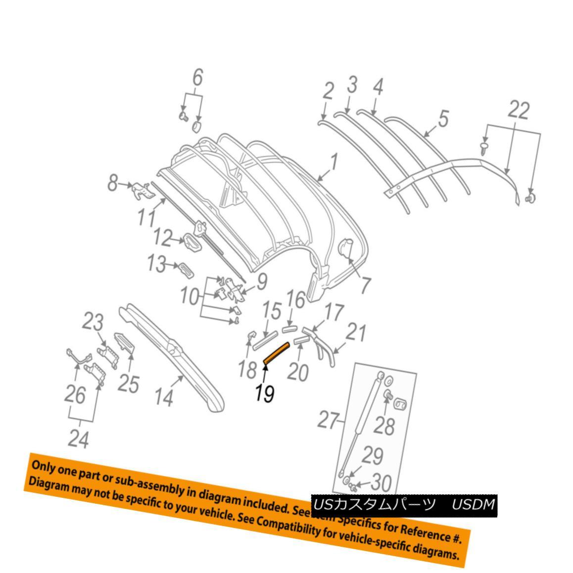 幌・ソフトトップ AUDI OEM 01-06 TT Quattro Convertible/soft Top-Channel Gasket Right 8N7871456 AUDI OEM 01-06 TT Quattro Convertible / so ftトップチャンネルガスケット右8N7871456