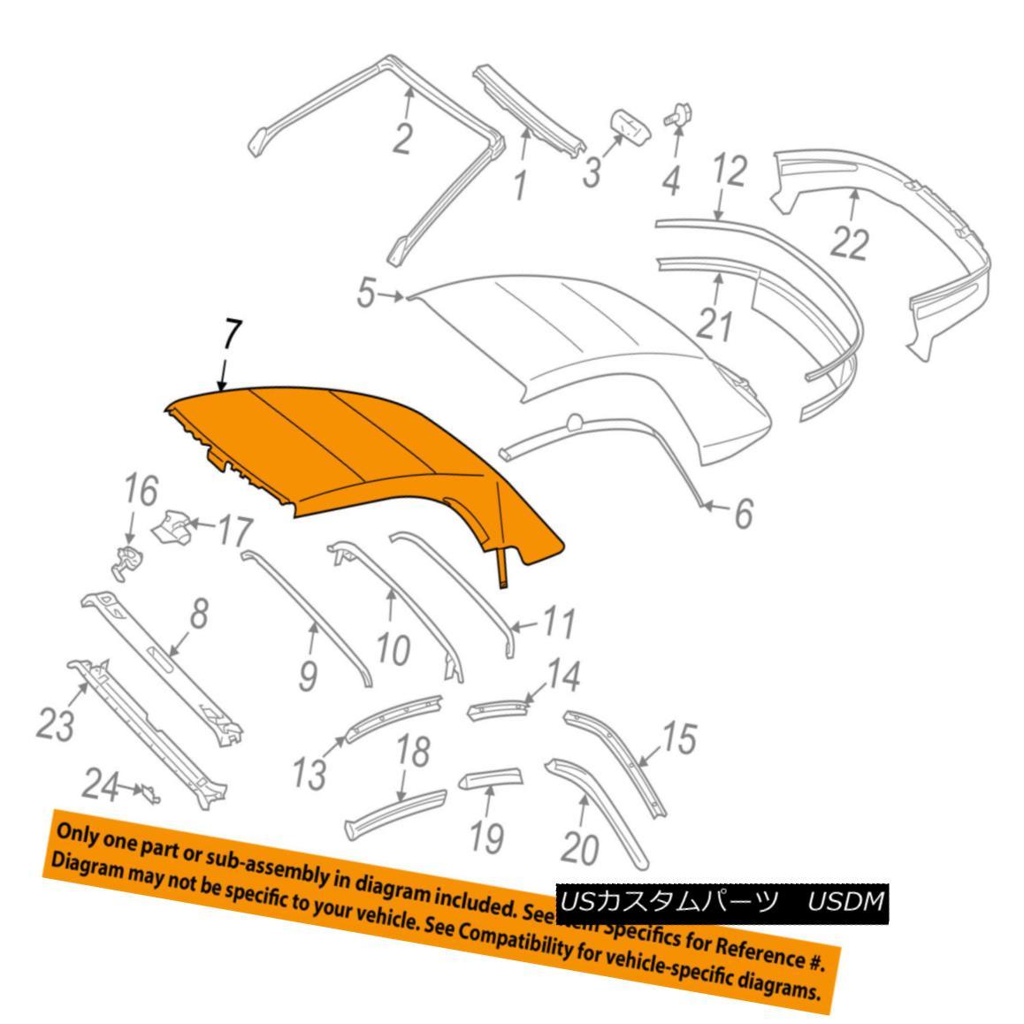 幌・ソフトトップ TOYOTA OEM 04-08 Solara Convertible/soft Top-Headliner 6590306010 トヨタOEM 04-08ソララ・コンバーチブル/ so ftトップヘッドライナー6590306010