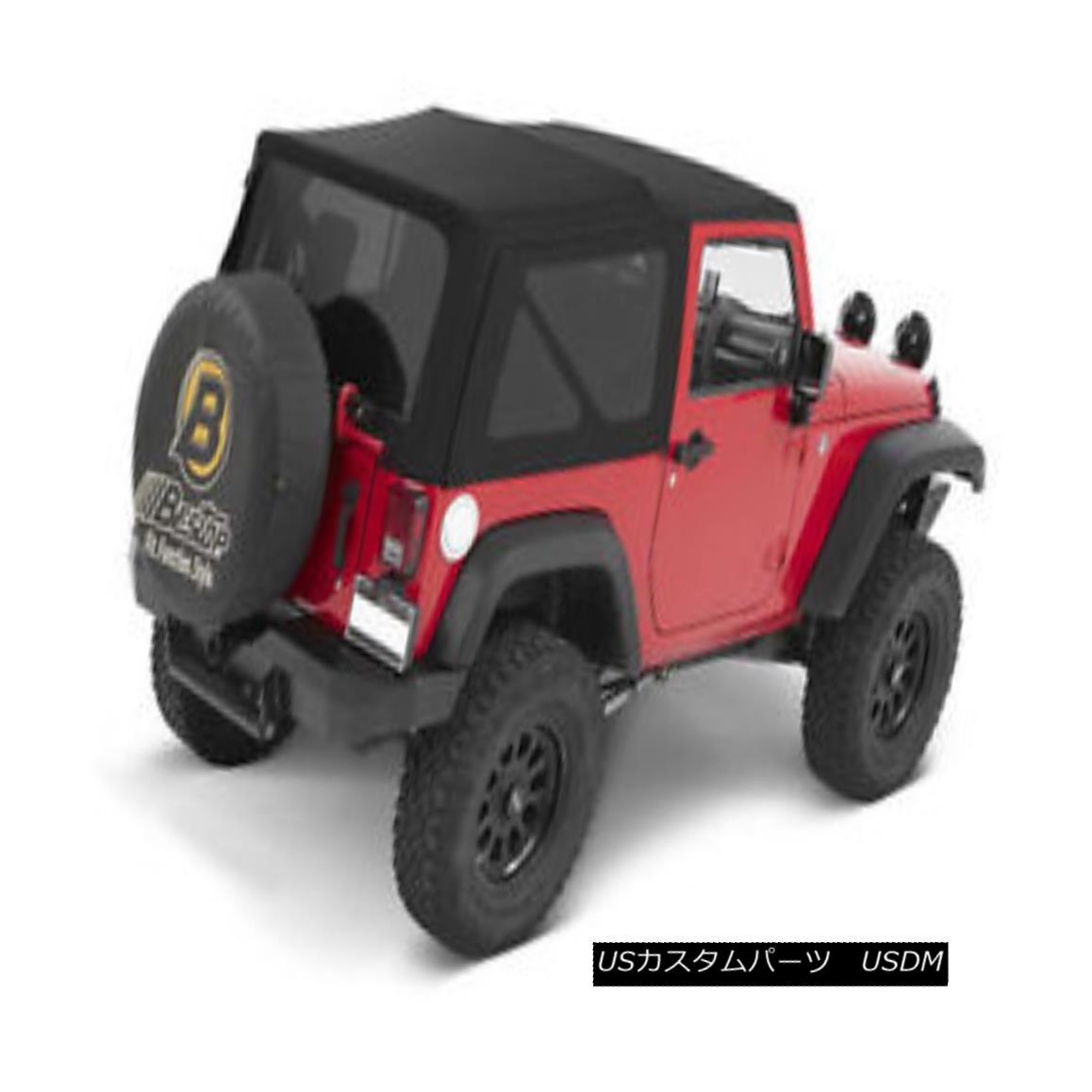 幌・ソフトトップ Bestop Replace A Top Black Twill 10-17 Jeep Wrangler 2 Door , Doors Not Included Bestop交換トップブラックツイル10-17ジープラングラー2ドア、含まれていないドア