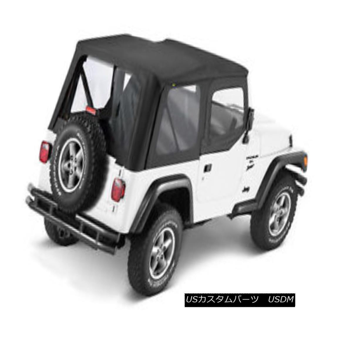 幌・ソフトトップ Bestop Sailcloth Replace A Top 97-02 Jeep Wrangler TJ Half Door Clear BlackCrush Bestop Sailclothトップ97-02ジープラングラーTJ Half Door Clear BlackCrush